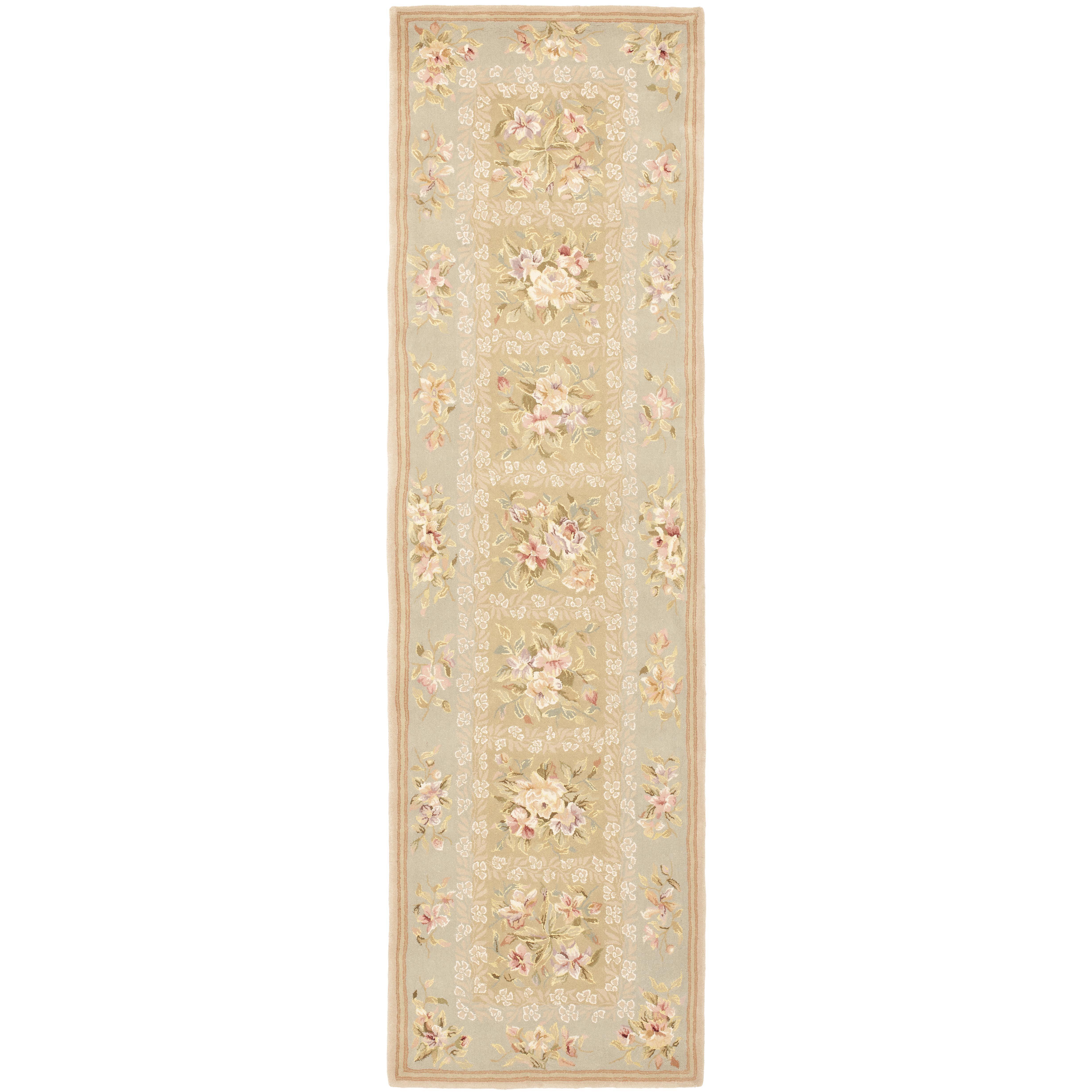 safavieh french tapis sand green floral area rug reviews. Black Bedroom Furniture Sets. Home Design Ideas