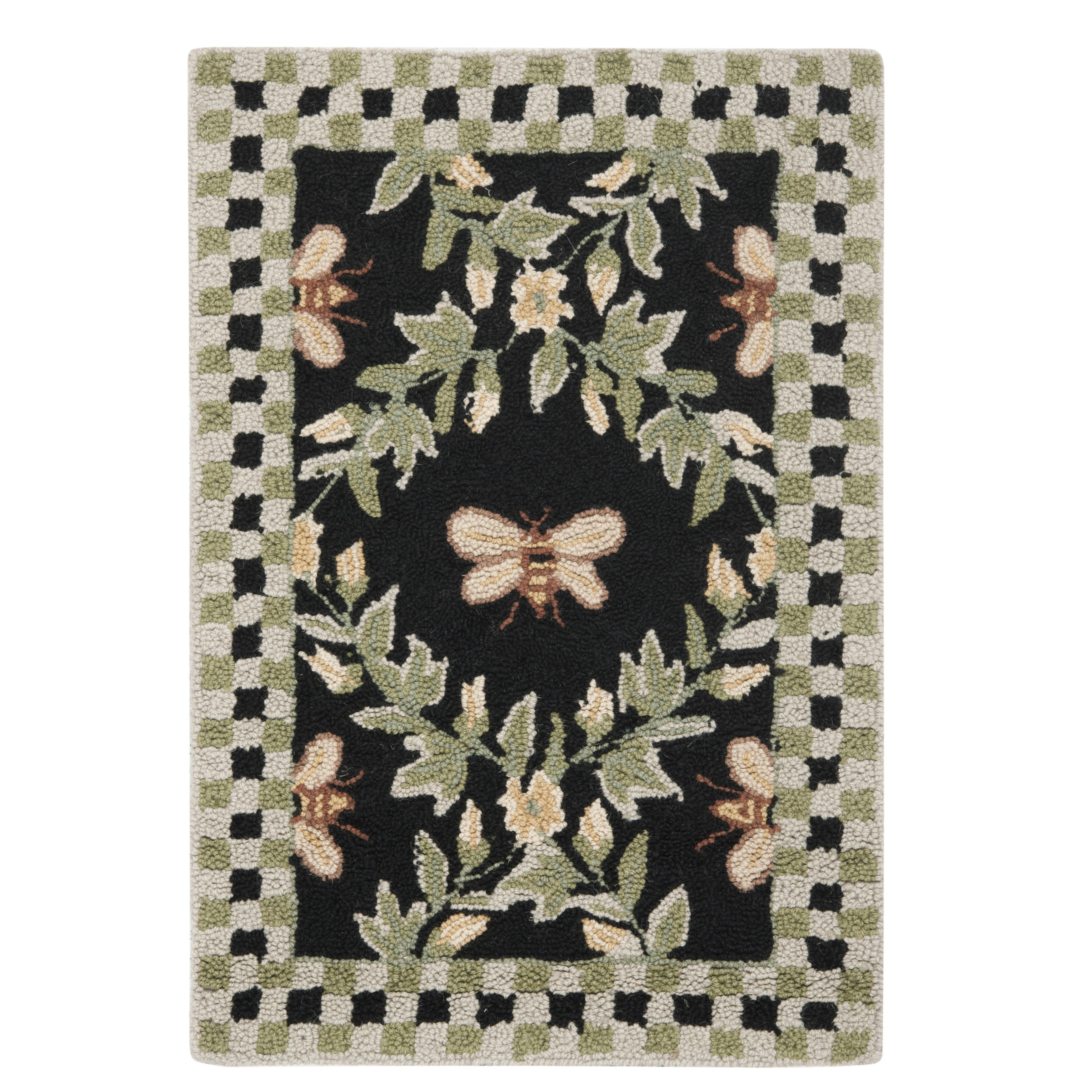 Dog Eating Wool Rug: Safavieh Chelsea Bumblebee Black Novelty Rug & Reviews