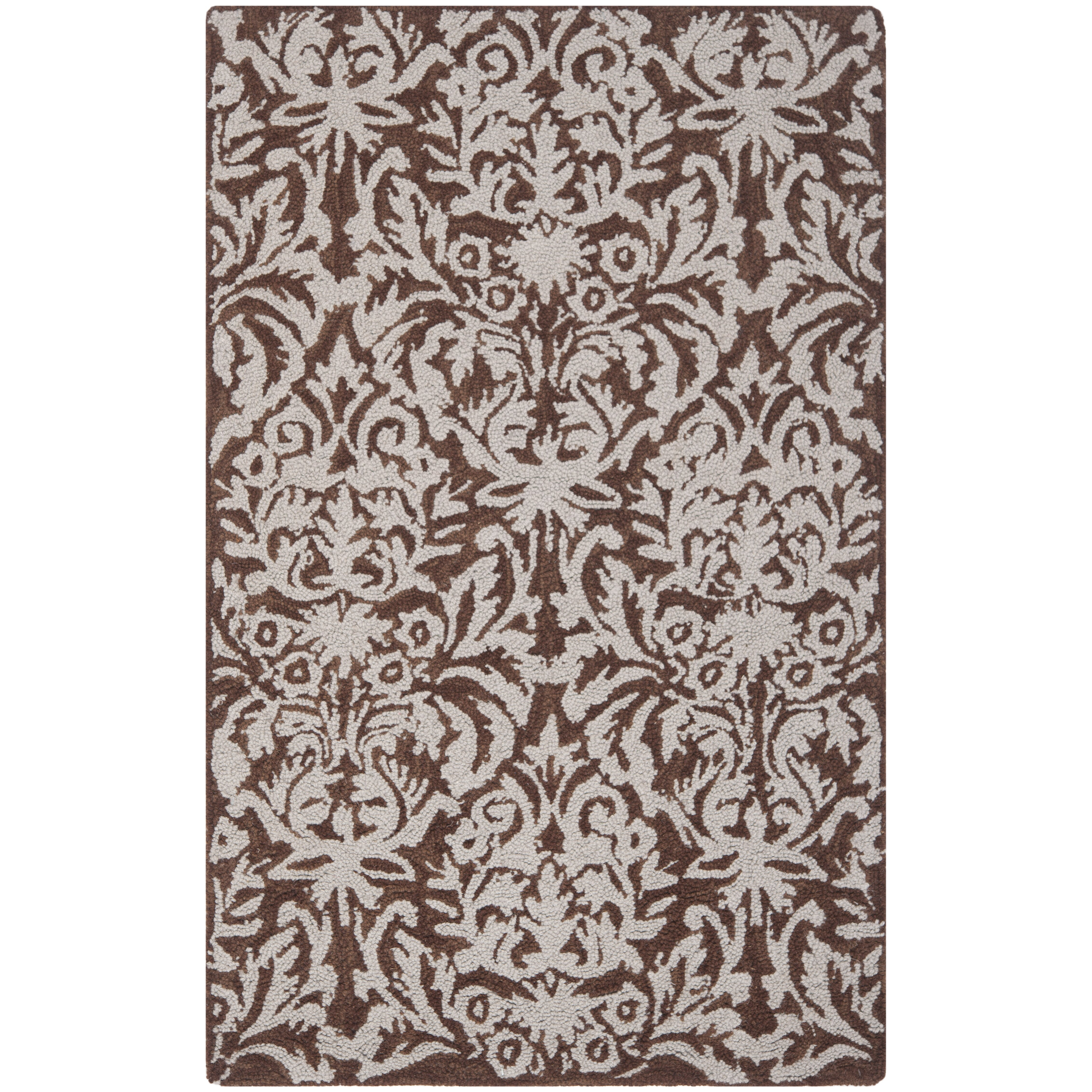 safavieh chelsea brown gray rug reviews wayfair. Black Bedroom Furniture Sets. Home Design Ideas