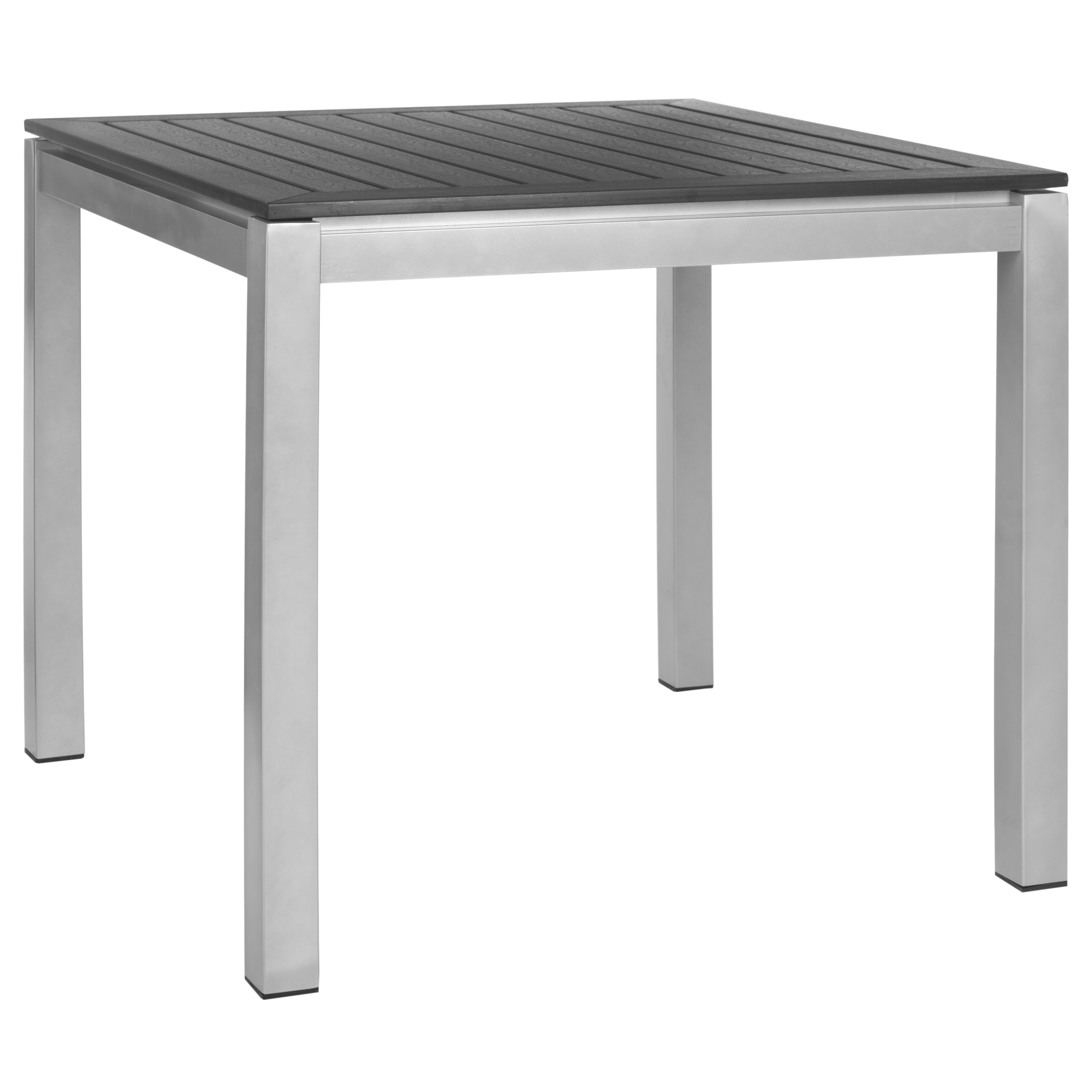 Safavieh patio onika square end table wayfair for Square side table