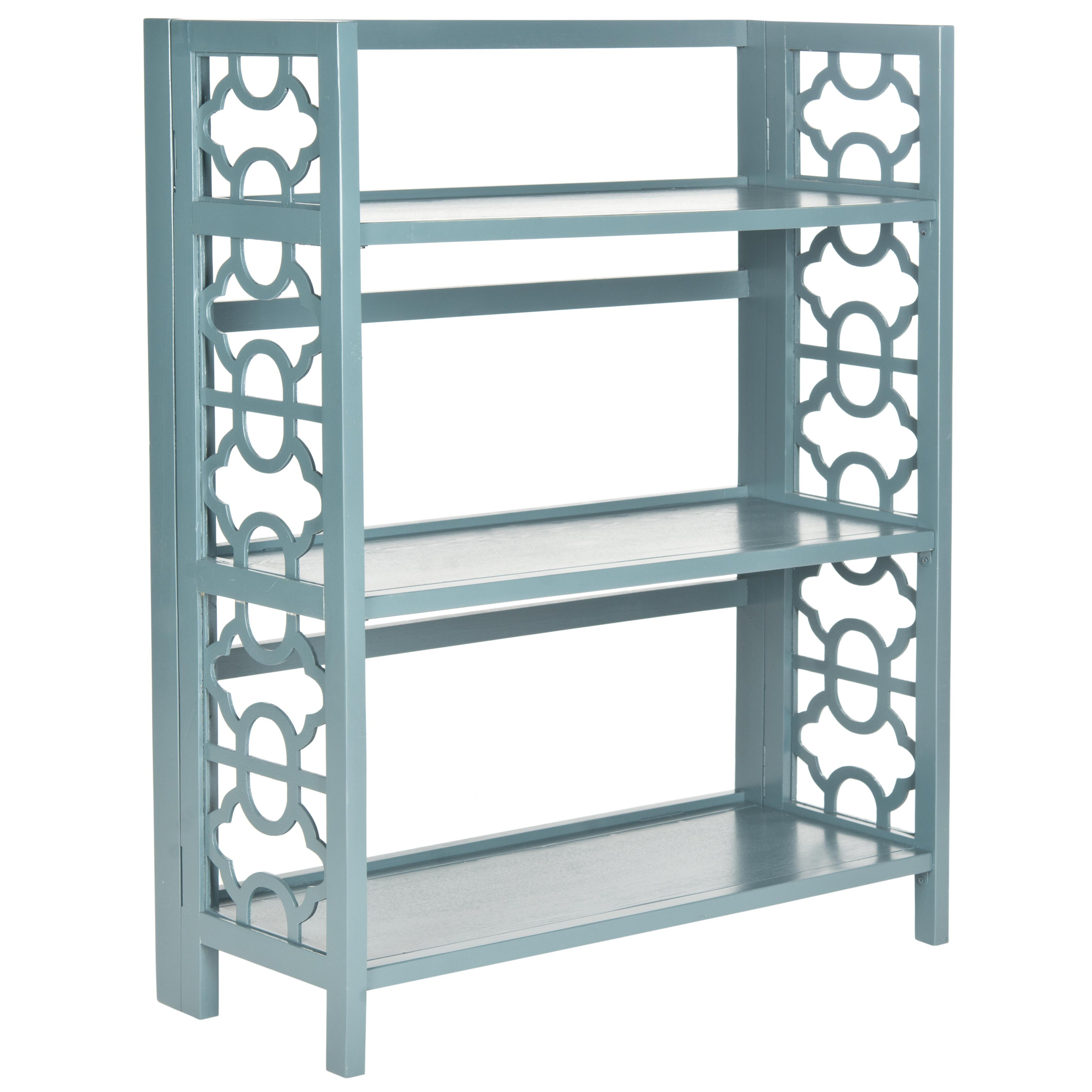 safavieh american home natalie 43 etagere bookcase. Black Bedroom Furniture Sets. Home Design Ideas