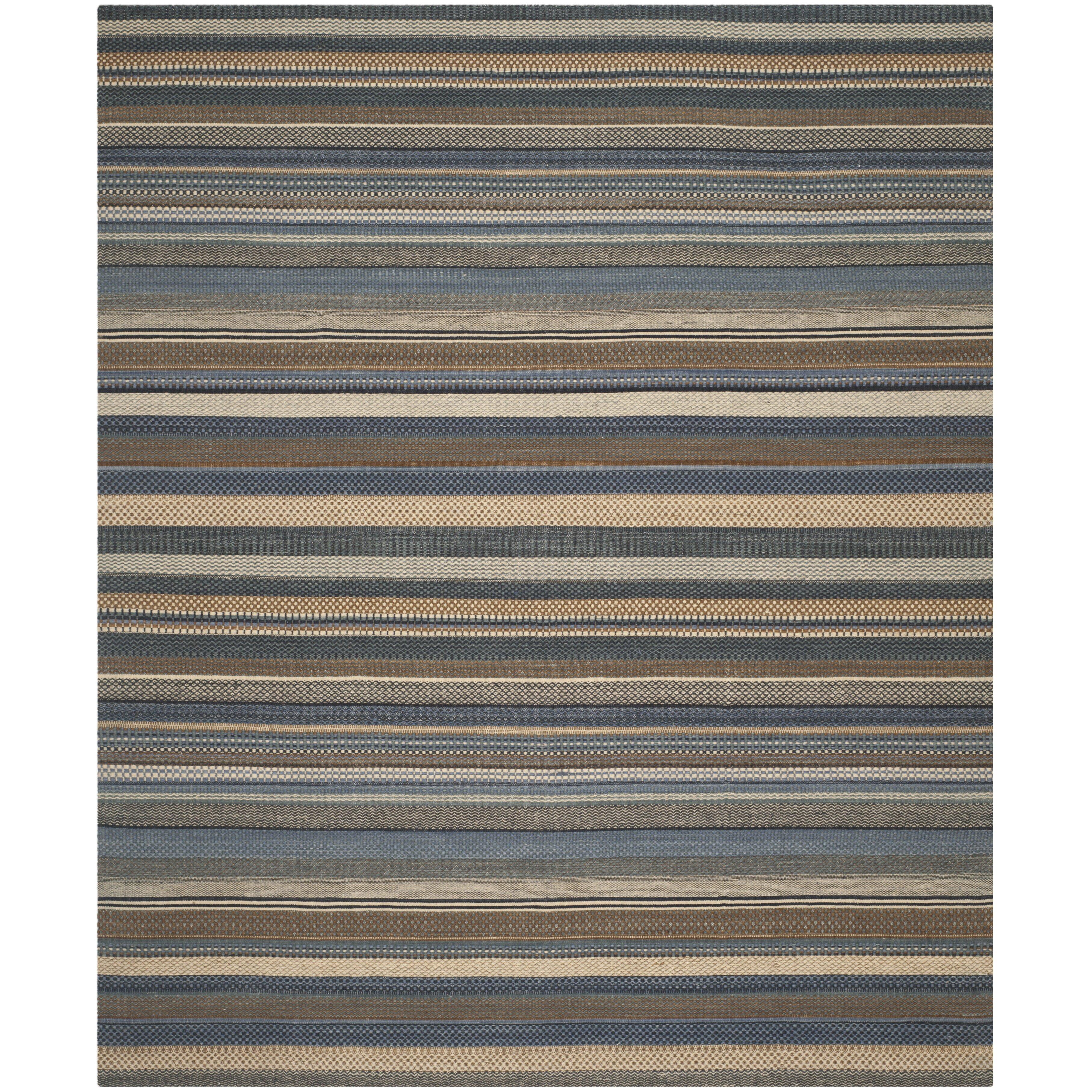 Safavieh Kilim Blue Striped Contemporary Rug Amp Reviews