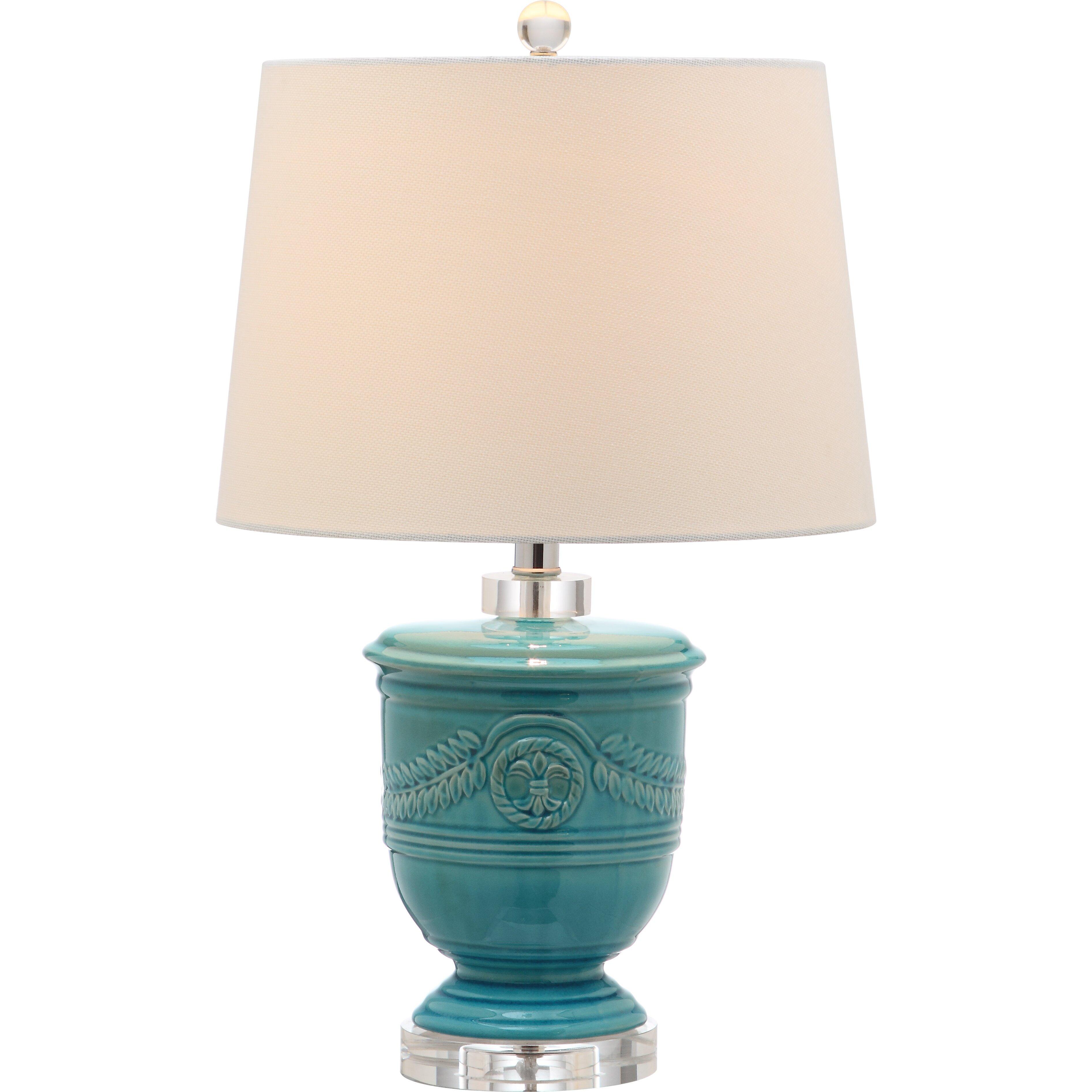 Safavieh shoal 235quot table lamps set of 2 reviews for Gazzetta 5 light table lamp