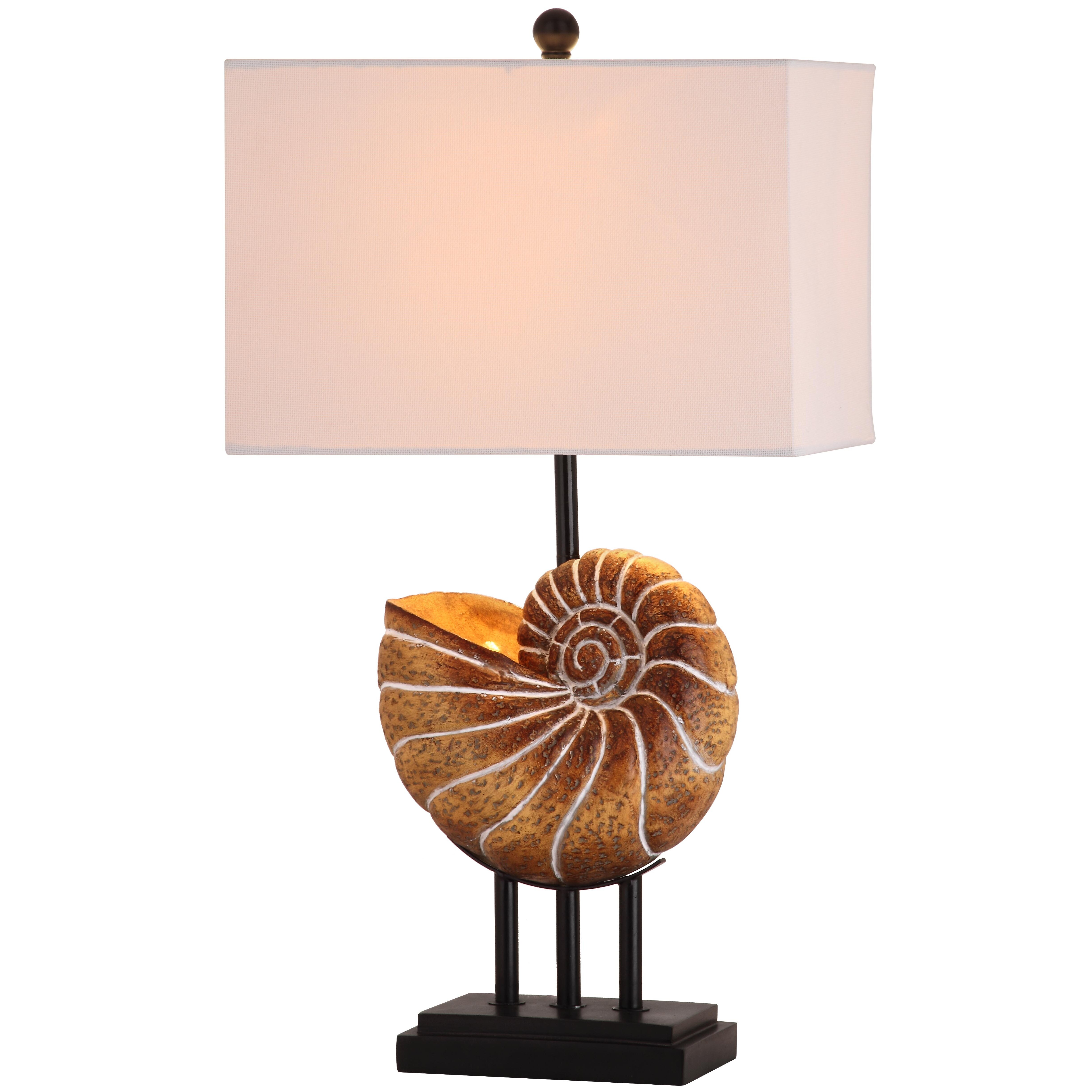shell 28 h table lamp with rectangular shade reviews wayfair. Black Bedroom Furniture Sets. Home Design Ideas