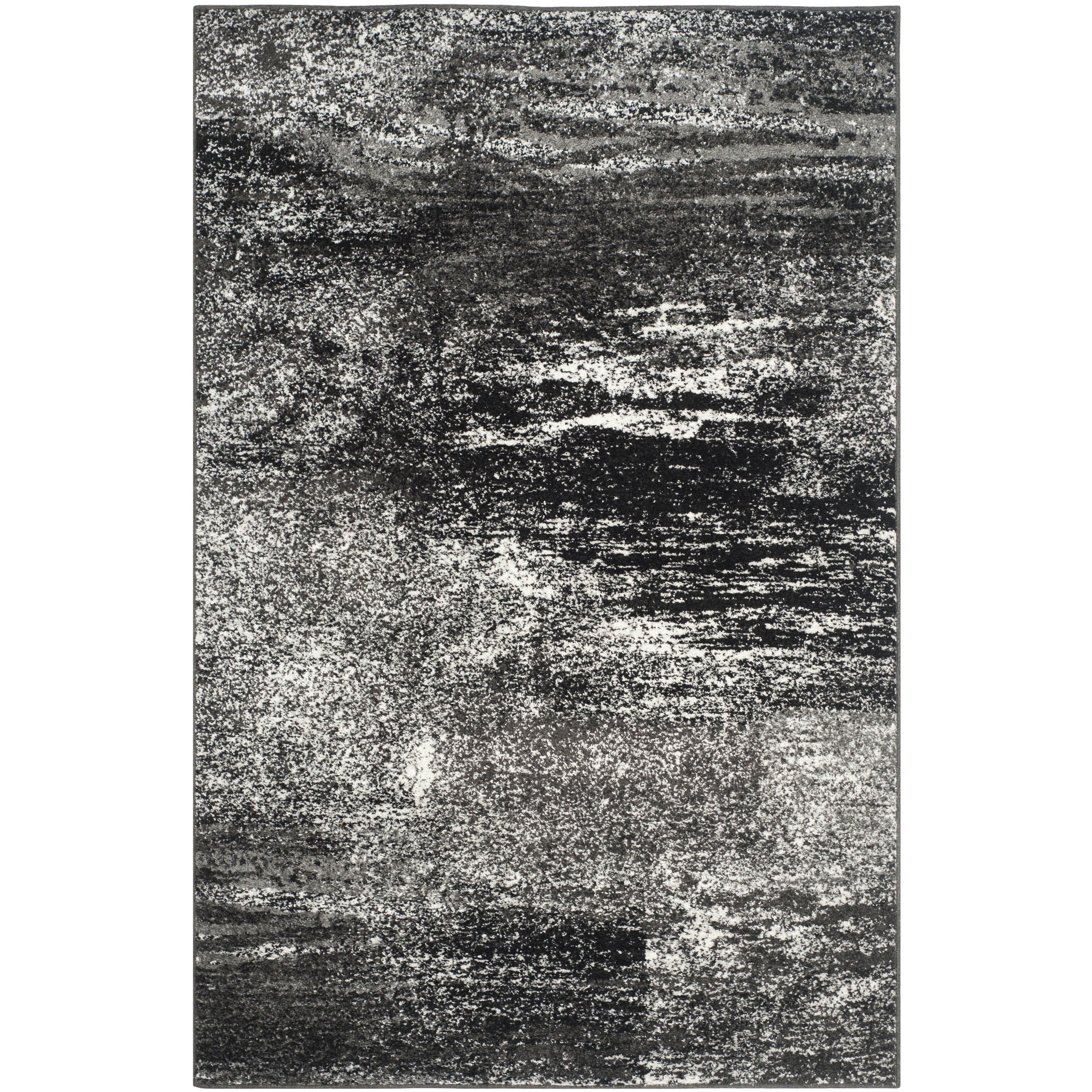Safavieh Adirondack Black Silver White Area Rug Reviews