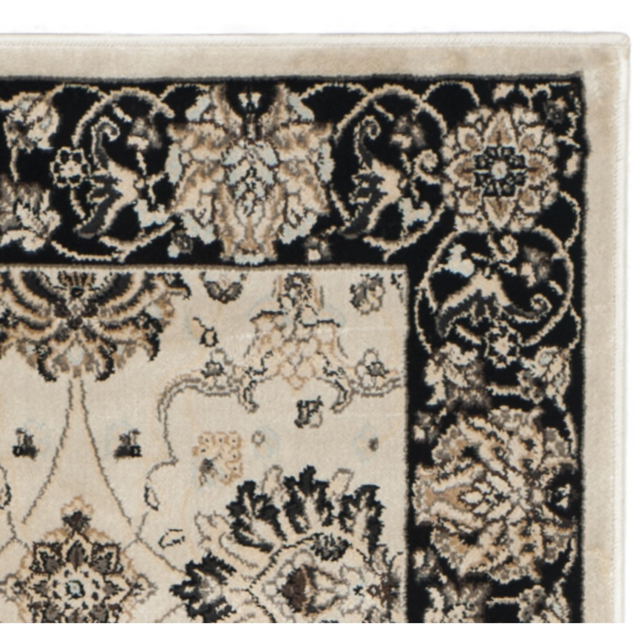 Safavieh Persian Garden Ivory Black Area Rug Amp Reviews