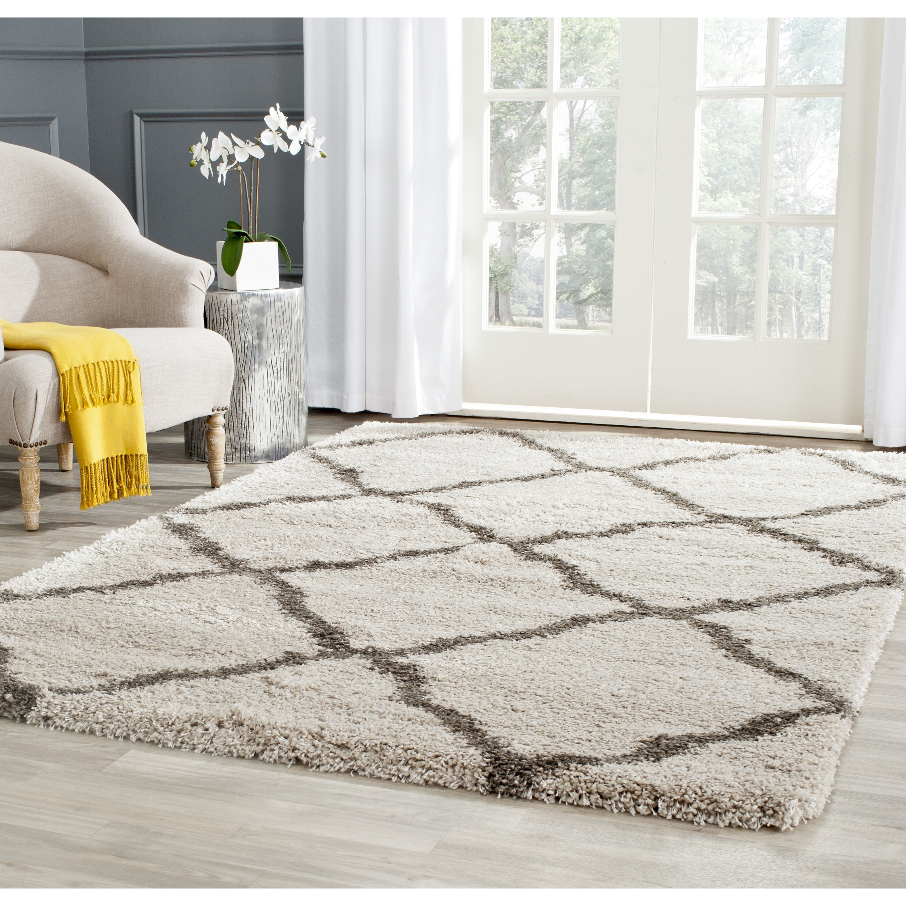 Safavieh Belize Shag Taupe Amp Grey Area Rug Amp Reviews Wayfair