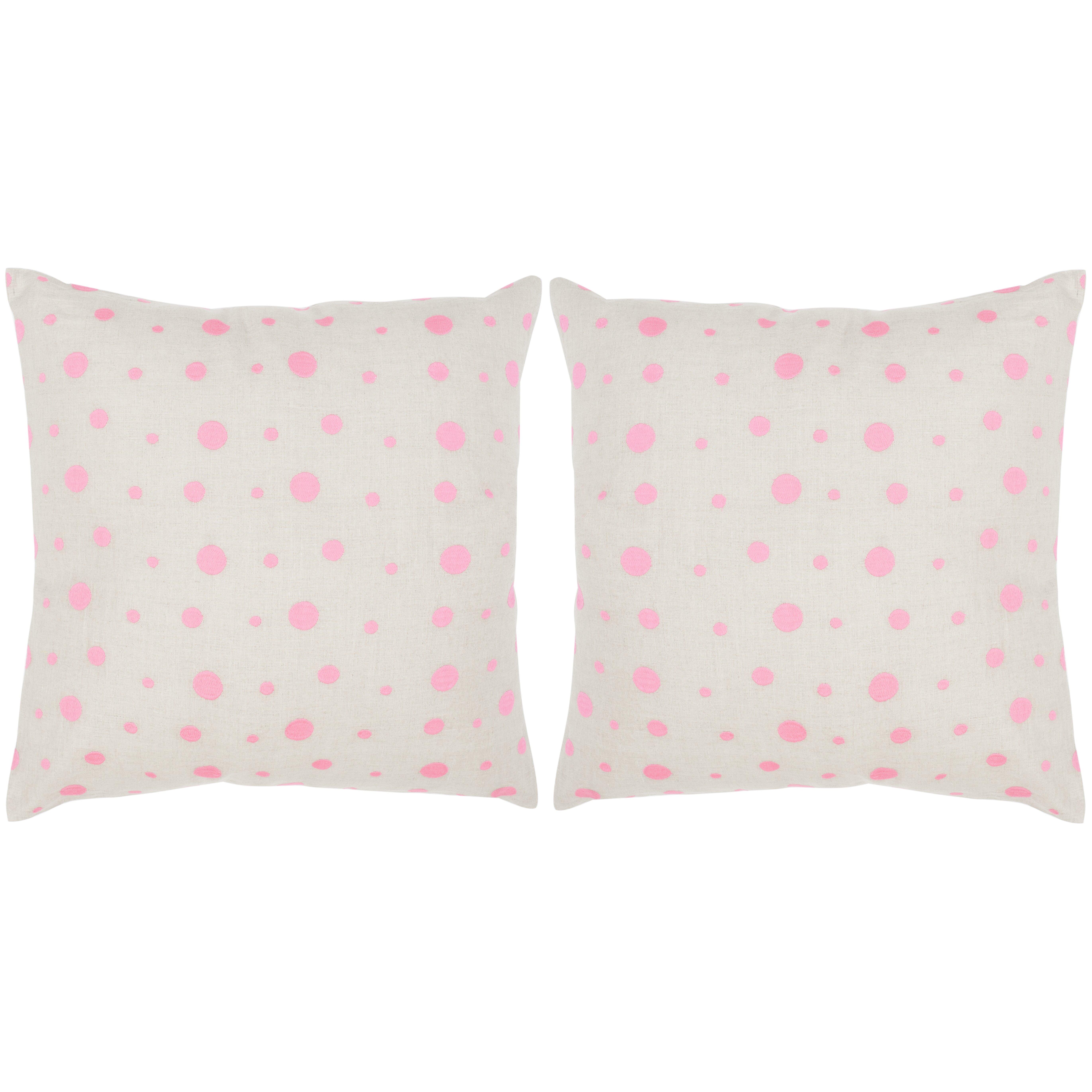 Throw Pillows With Buttons : Safavieh Candy Buttons Linen Throw Pillow Wayfair