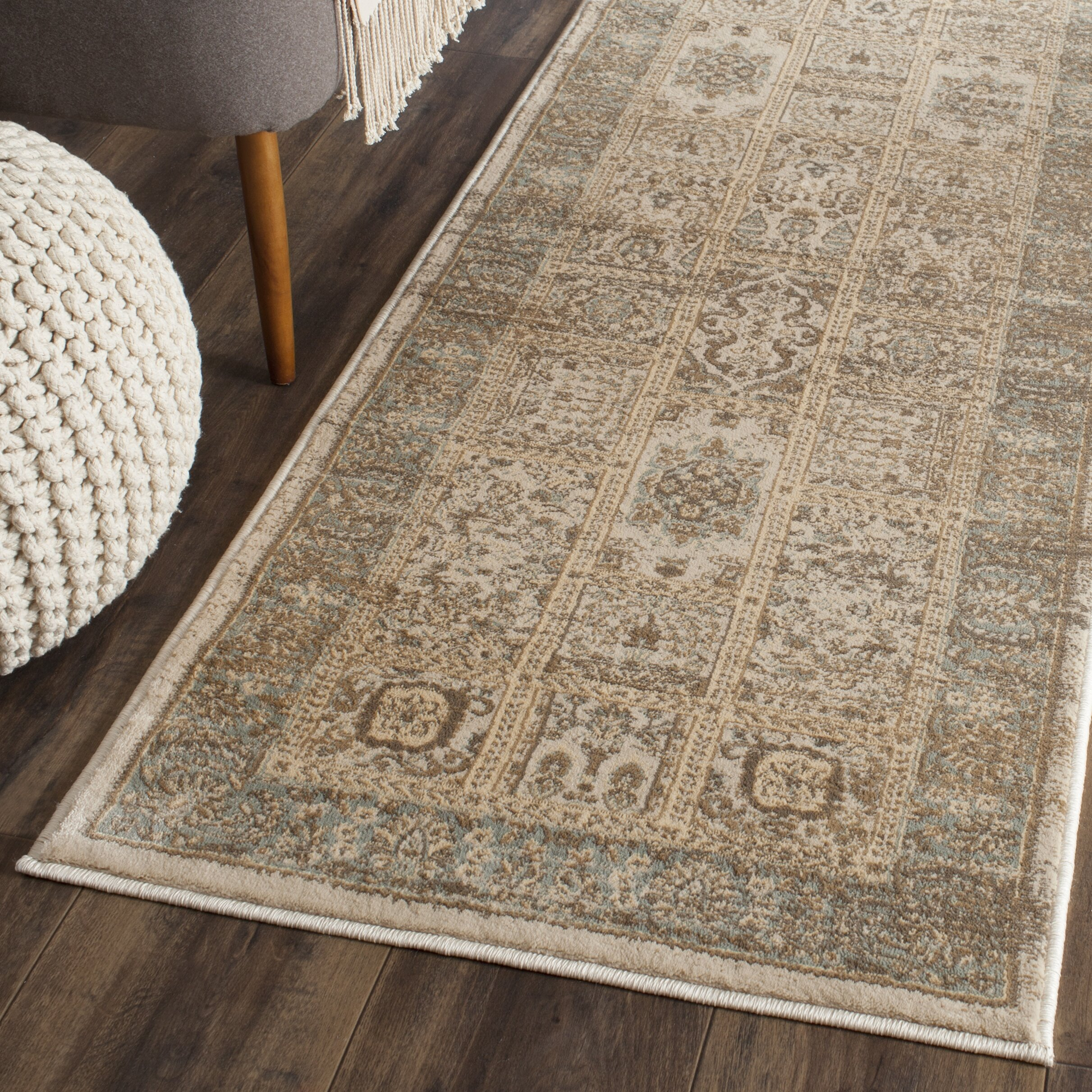 safavieh vintage ivory light blue area rug reviews wayfair. Black Bedroom Furniture Sets. Home Design Ideas