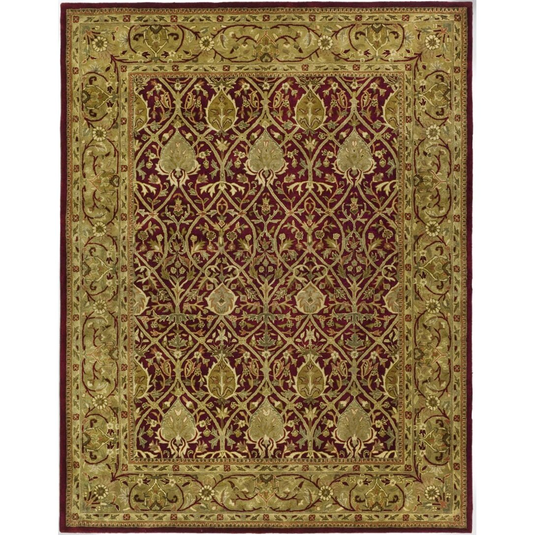Safavieh persian legend red gold area rug reviews wayfair for Red and gold area rugs