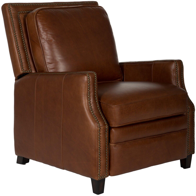 Safavieh couture buddy italian leather recliner amp reviews wayfair