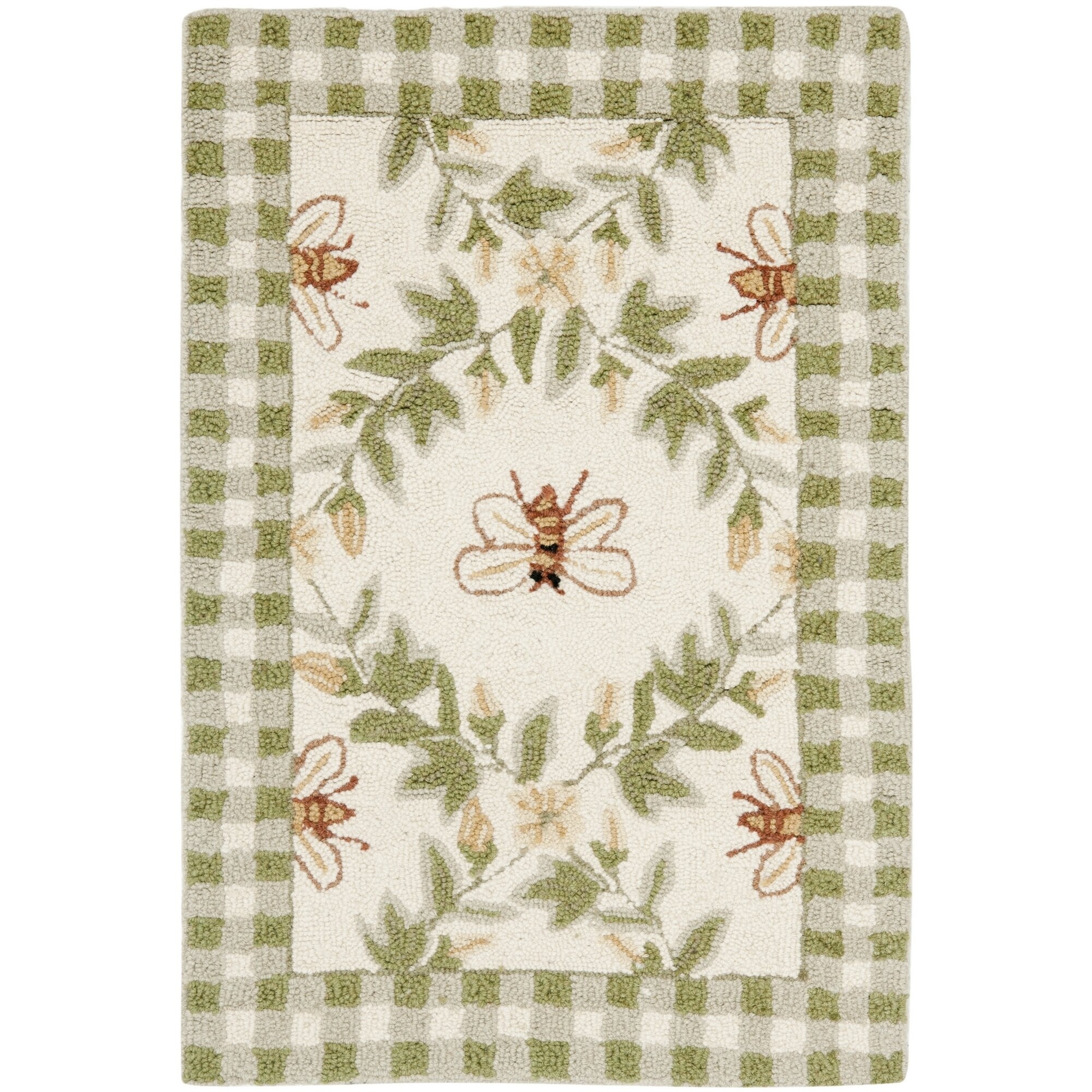 safavieh chelsea ivory green bumblebee area rug cheerful home office rug wayfair safavieh