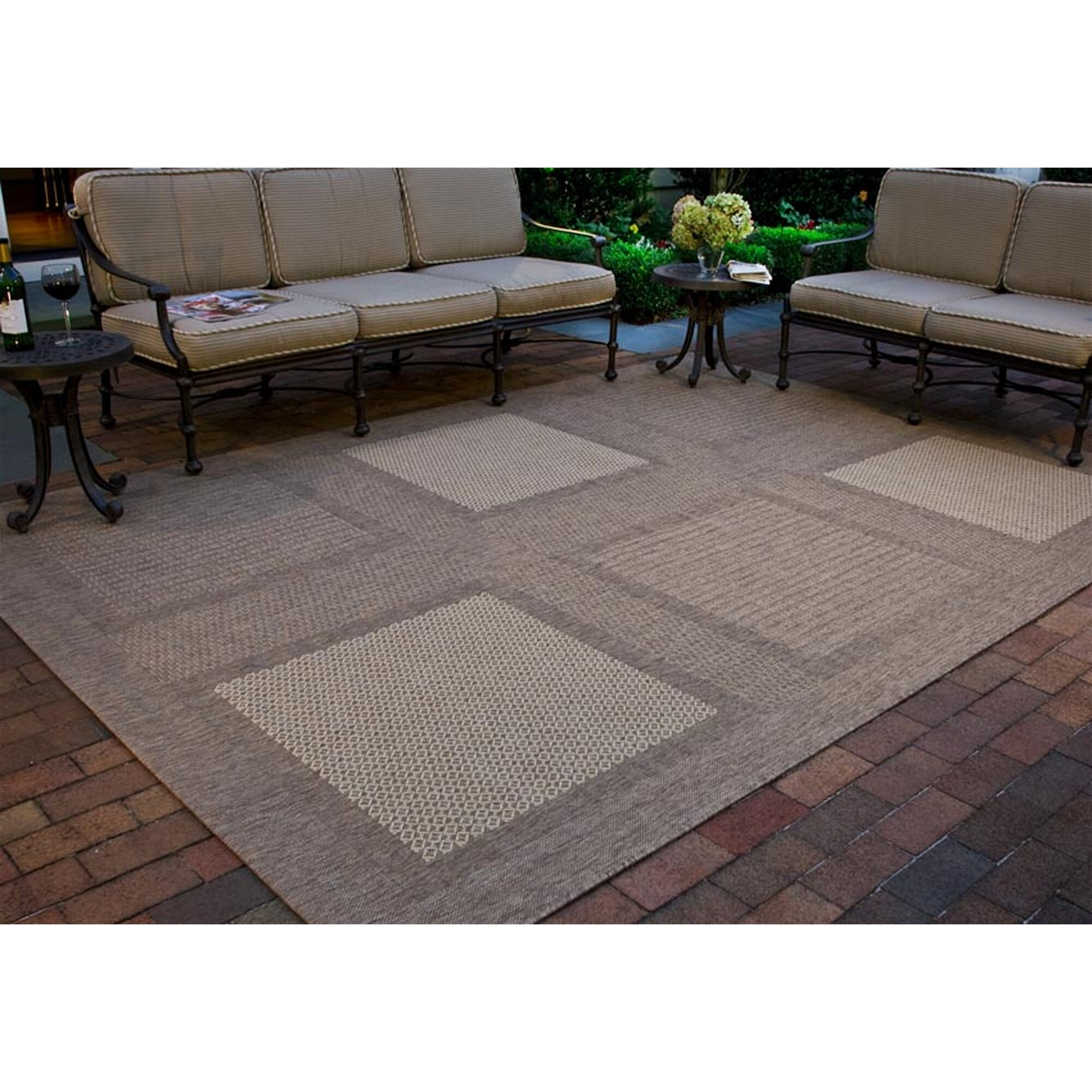 large outdoor rugs safavieh courtyard large boxes outdoor rug amp reviews 654