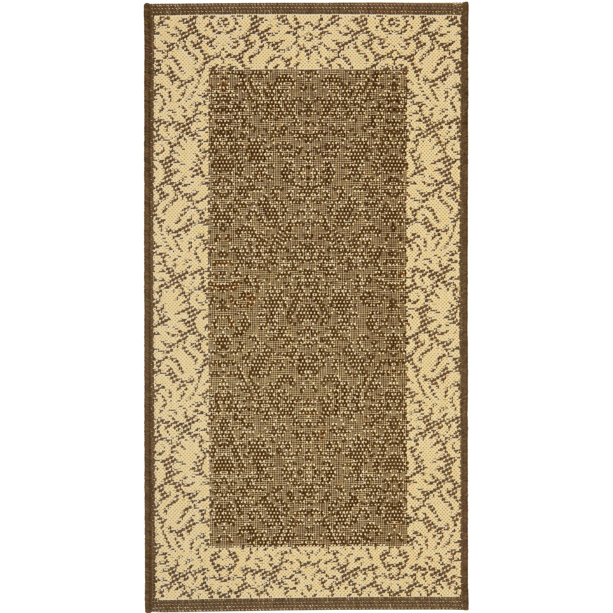 safavieh courtyard chocolate tan outdoor area rug