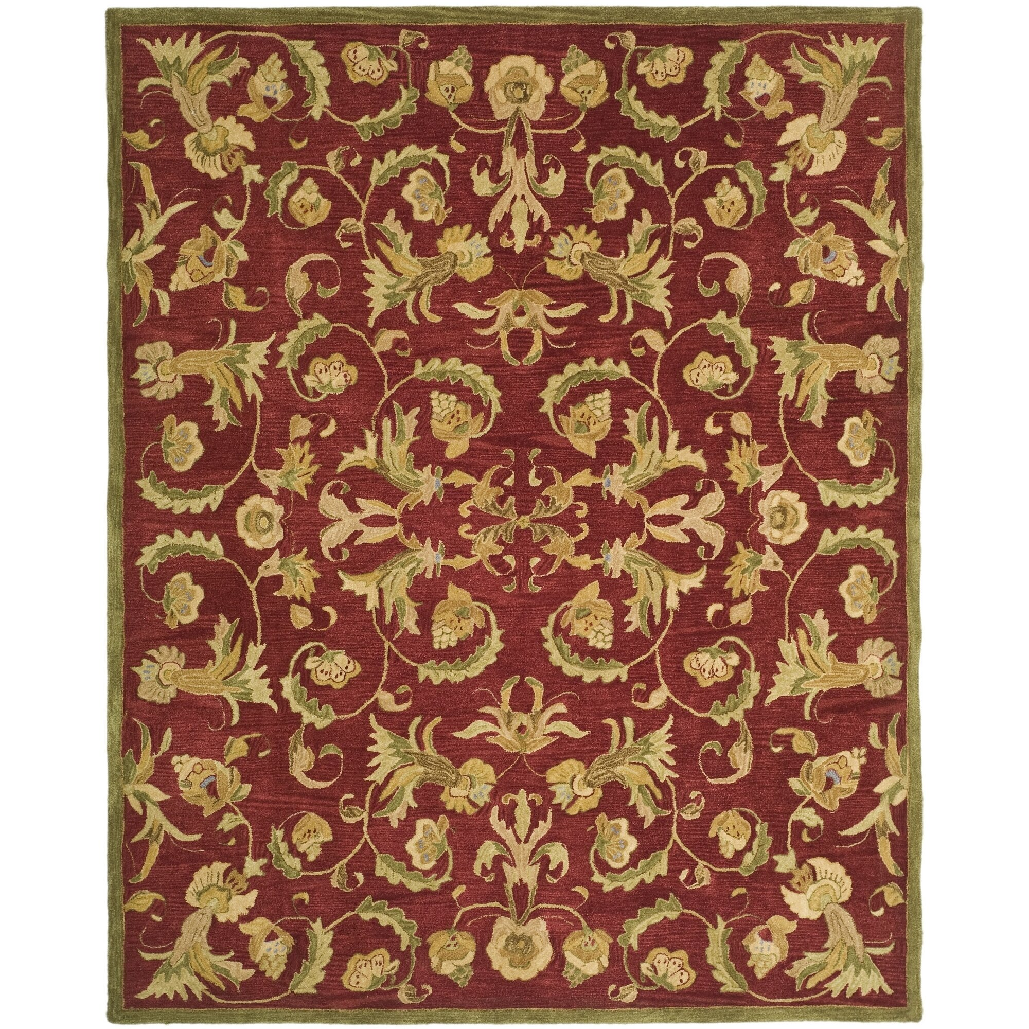 Safavieh Anatolia Burgundy Sage Area Rug Amp Reviews Wayfair