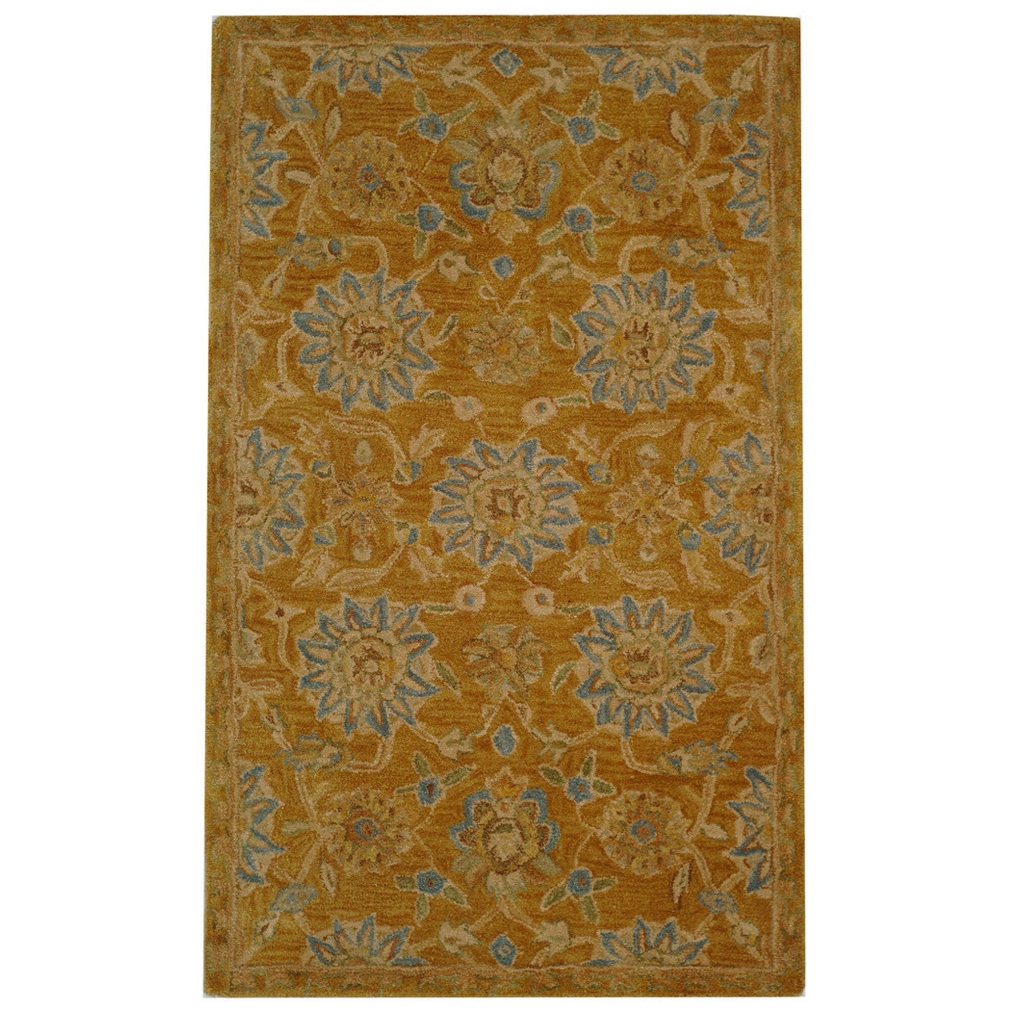 Safavieh Carpet: Safavieh Anatolia Gold/Blue Area Rug & Reviews