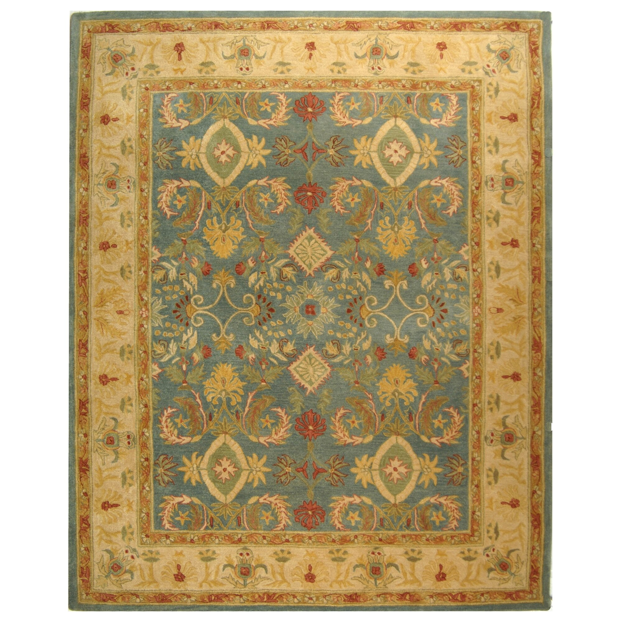 Dog Eating Wool Rug: Safavieh Anatolia Light Blue & Ivory Area Rug & Reviews