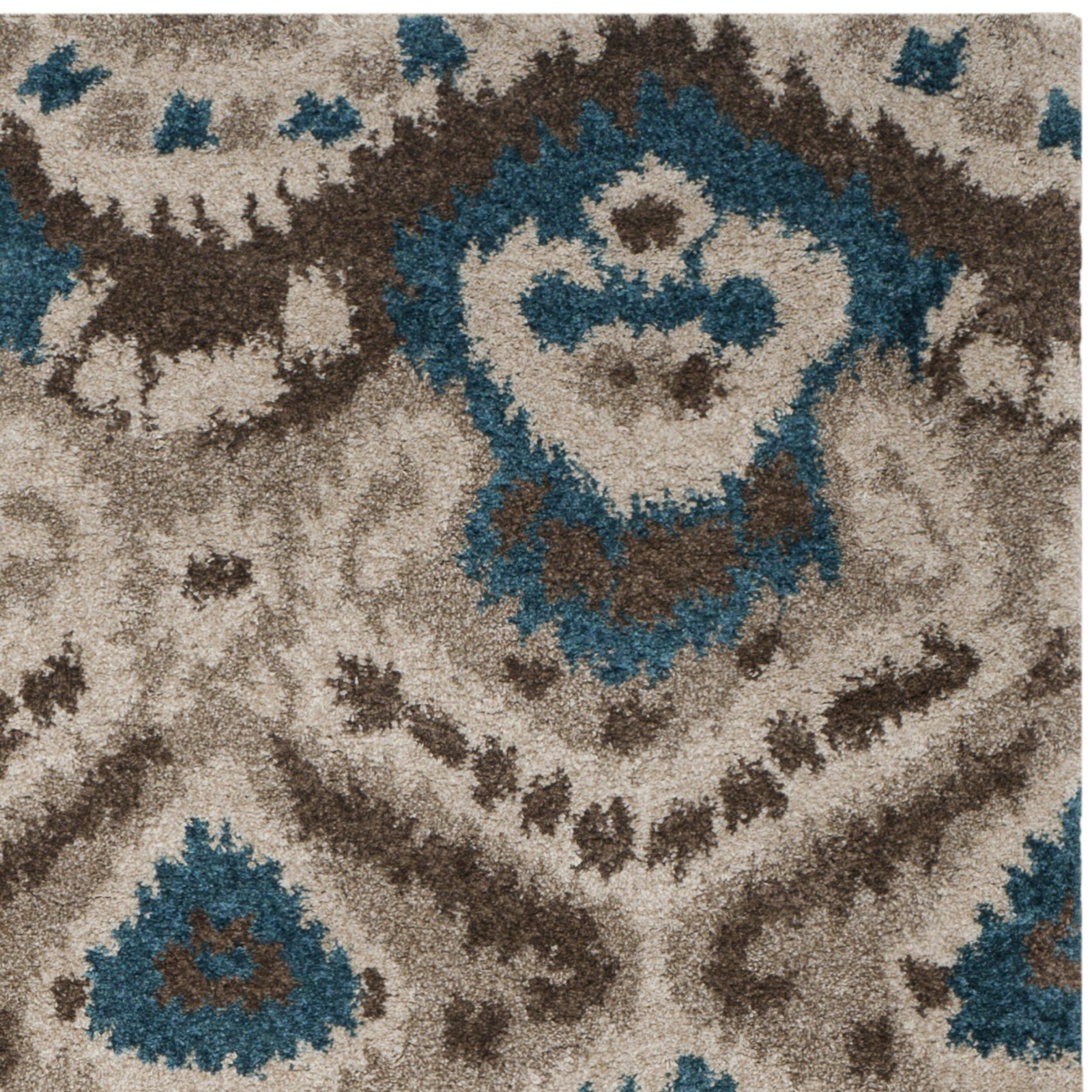 Safavieh Tibetan Brown Turquoise Ikat Rug & Reviews