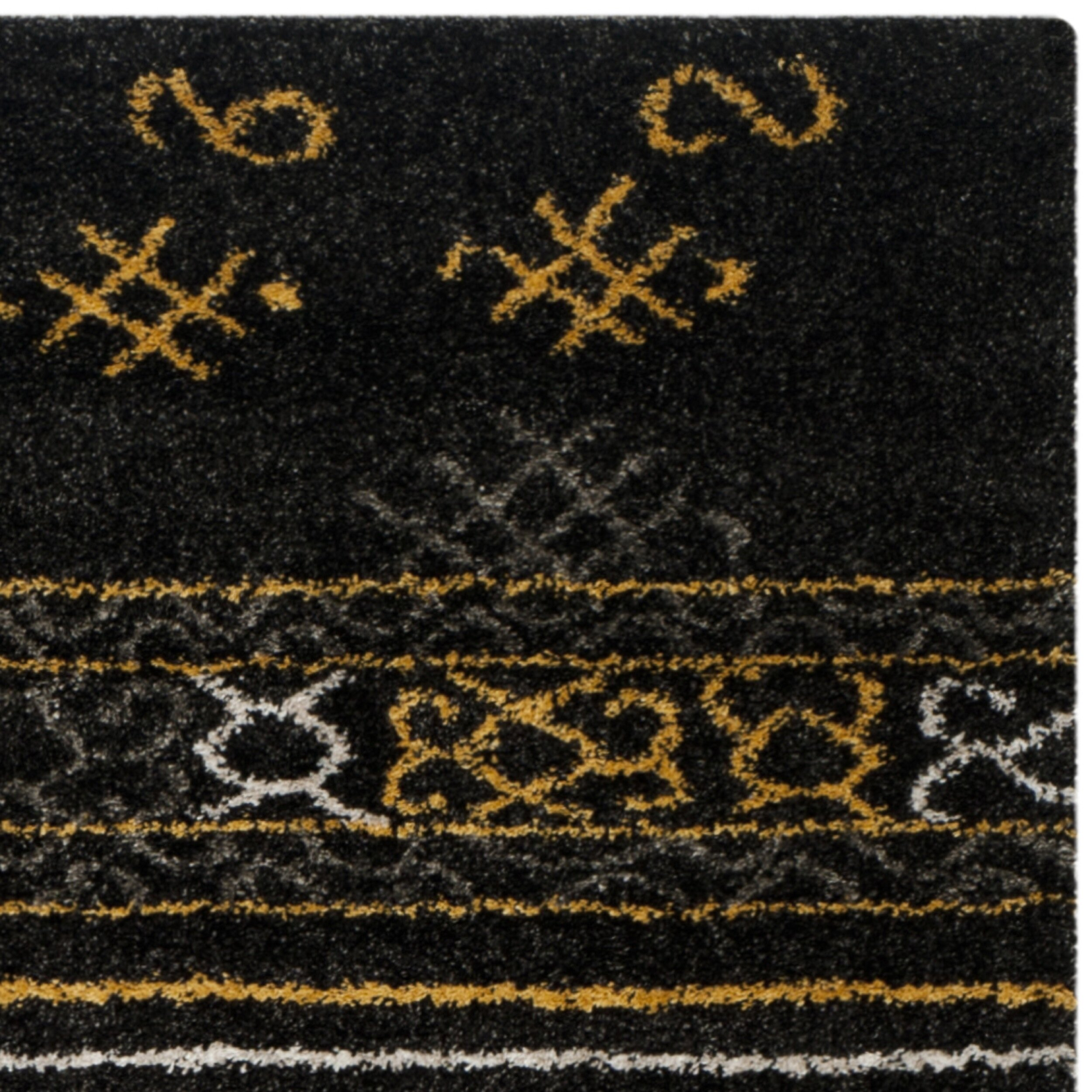 Safavieh Tibetan Black Gold Rug Wayfair