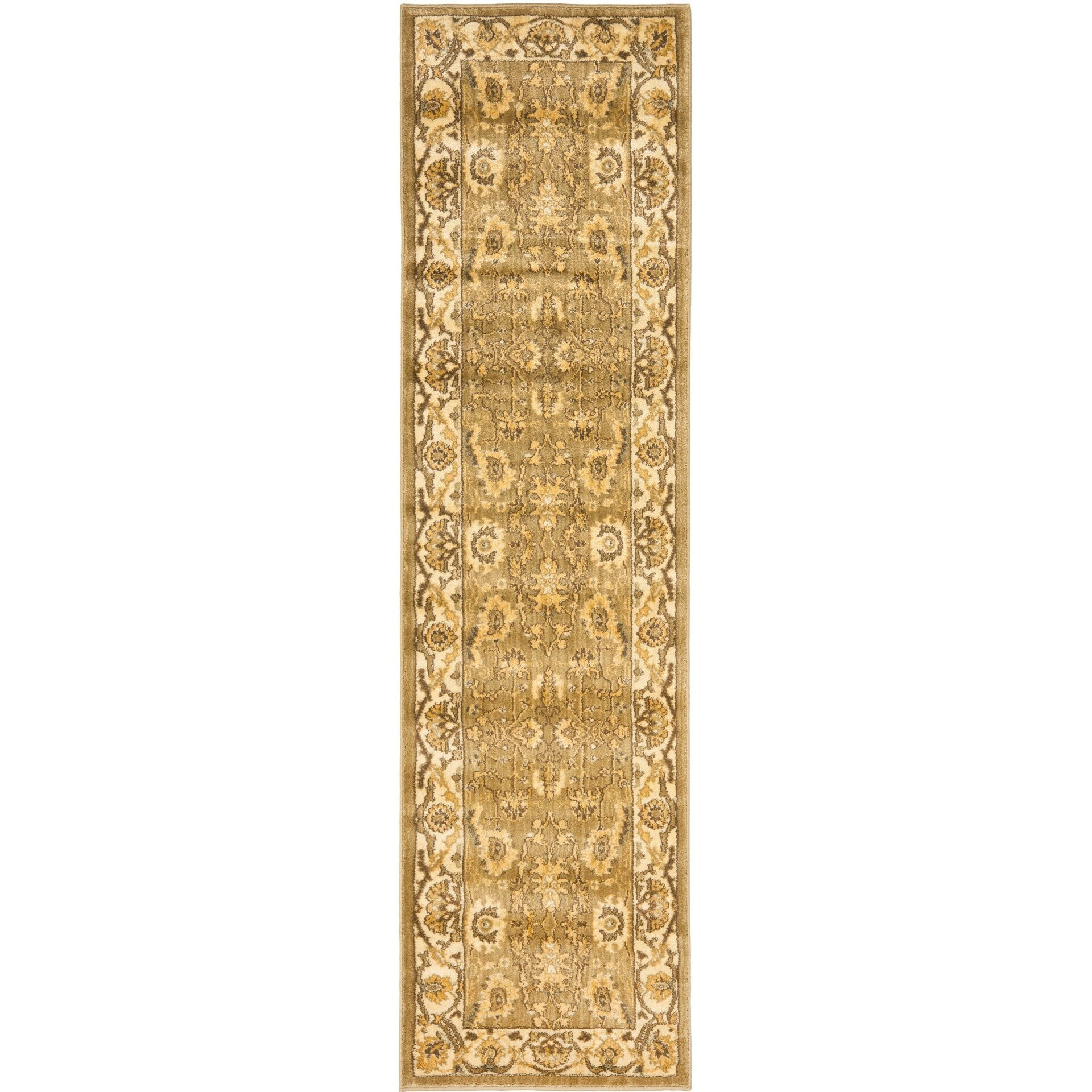 Safavieh green cream area rug wayfair for Green and cream rugs