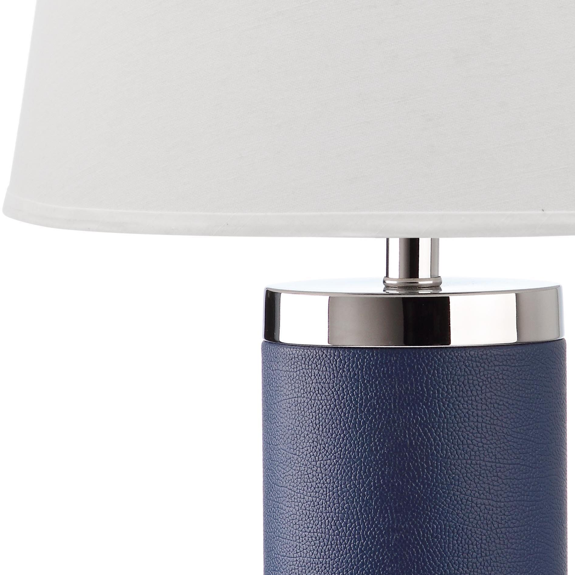 Safavieh Leather Column 26 Quot Table Lamps Set Of 2