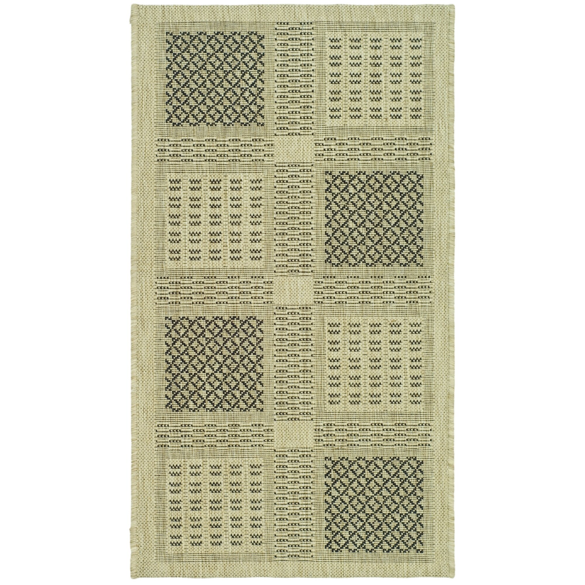 Safavieh Courtyard Sand Black Outdoor Rug & Reviews