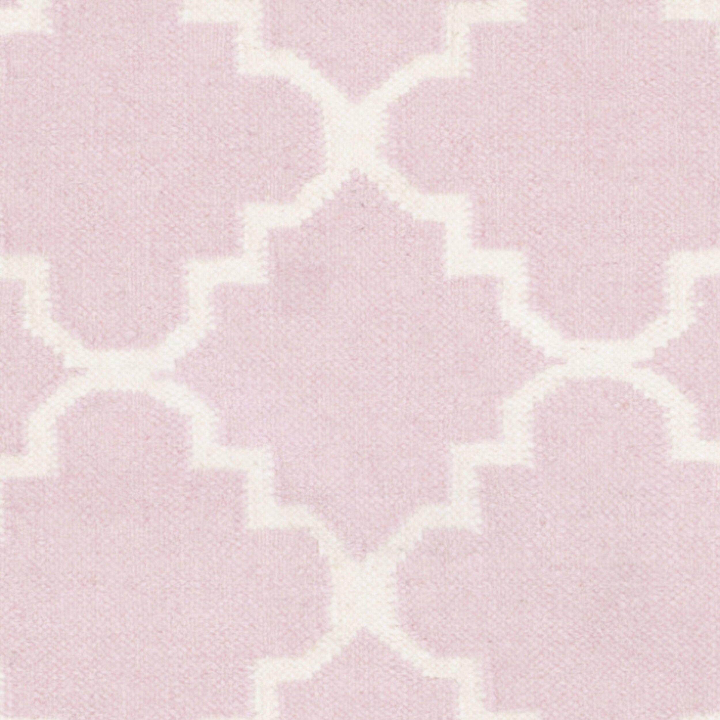 Safavieh Dhurries Pink/Ivory Area Rug & Reviews