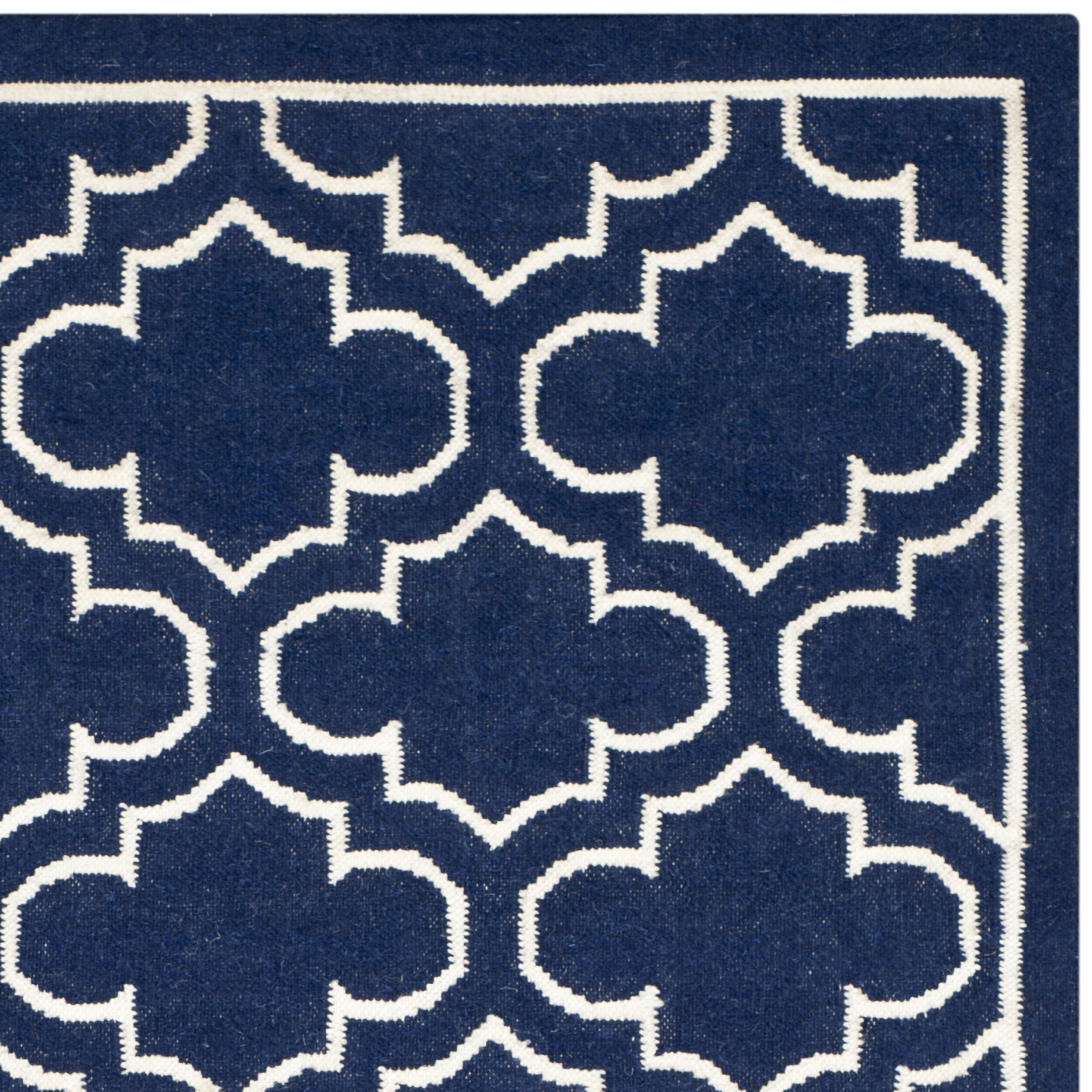 safavieh dhurries navy ivory area rug reviews wayfair