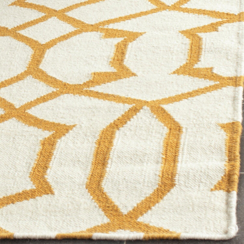 Safavieh Dhurries Ivory Yellow Area Rug Wayfair