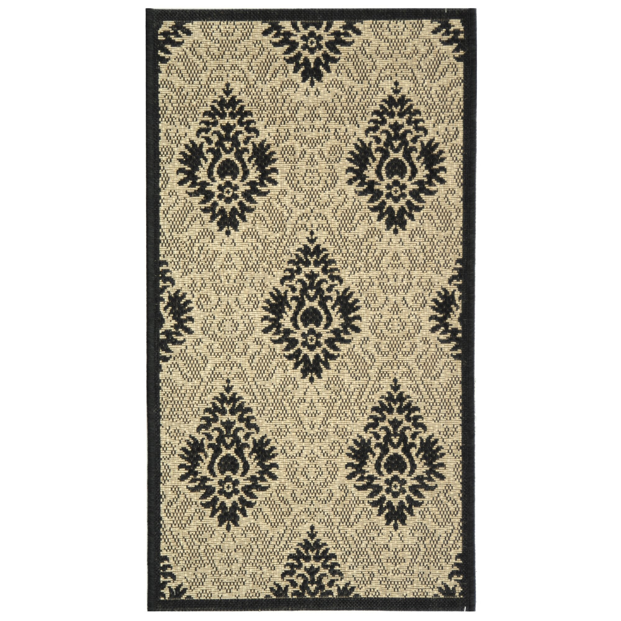 Safavieh Courtyard Sand Black Outdoor Area Rug Amp Reviews