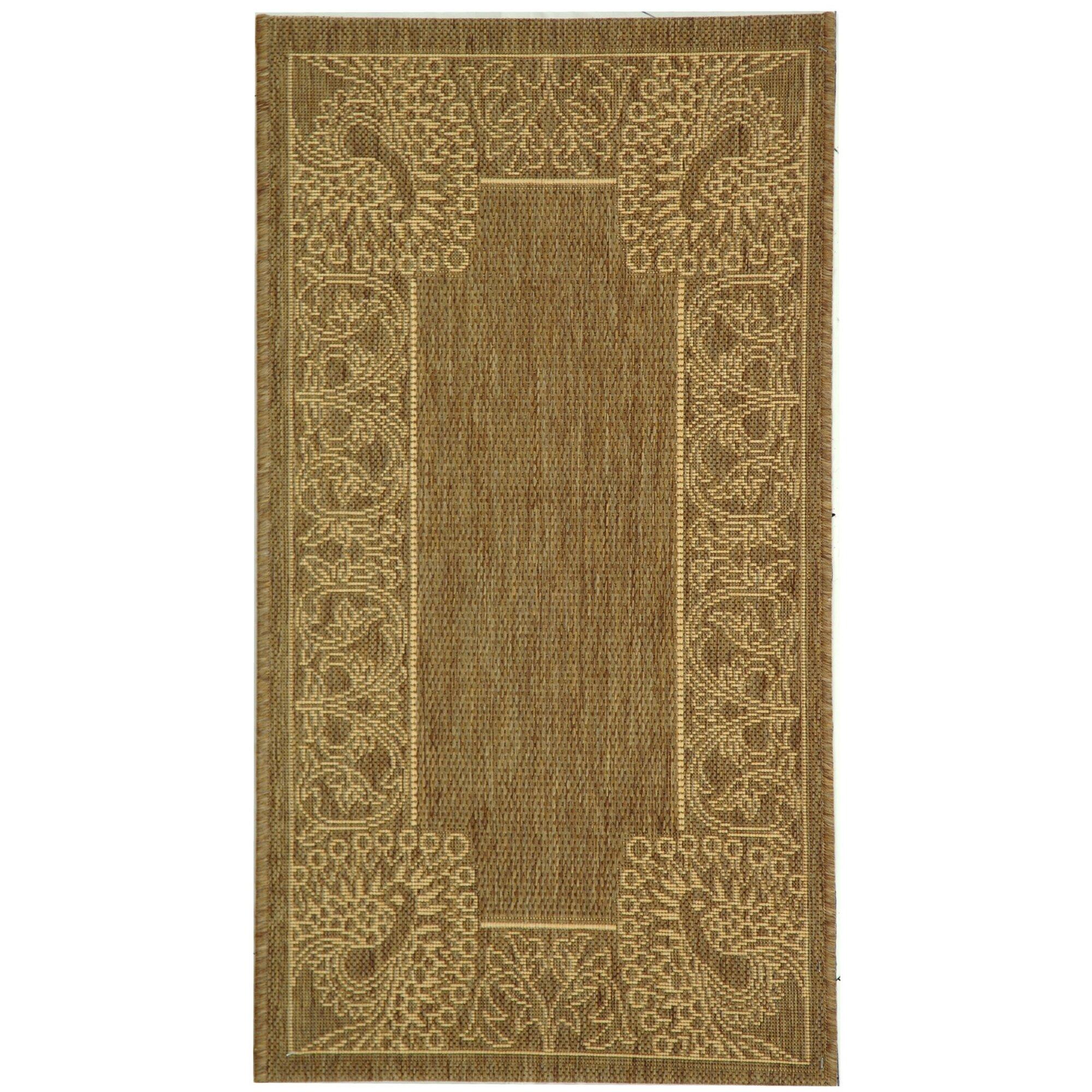 Safavieh courtyard brown natural rug reviews wayfair for Safavieh rugs