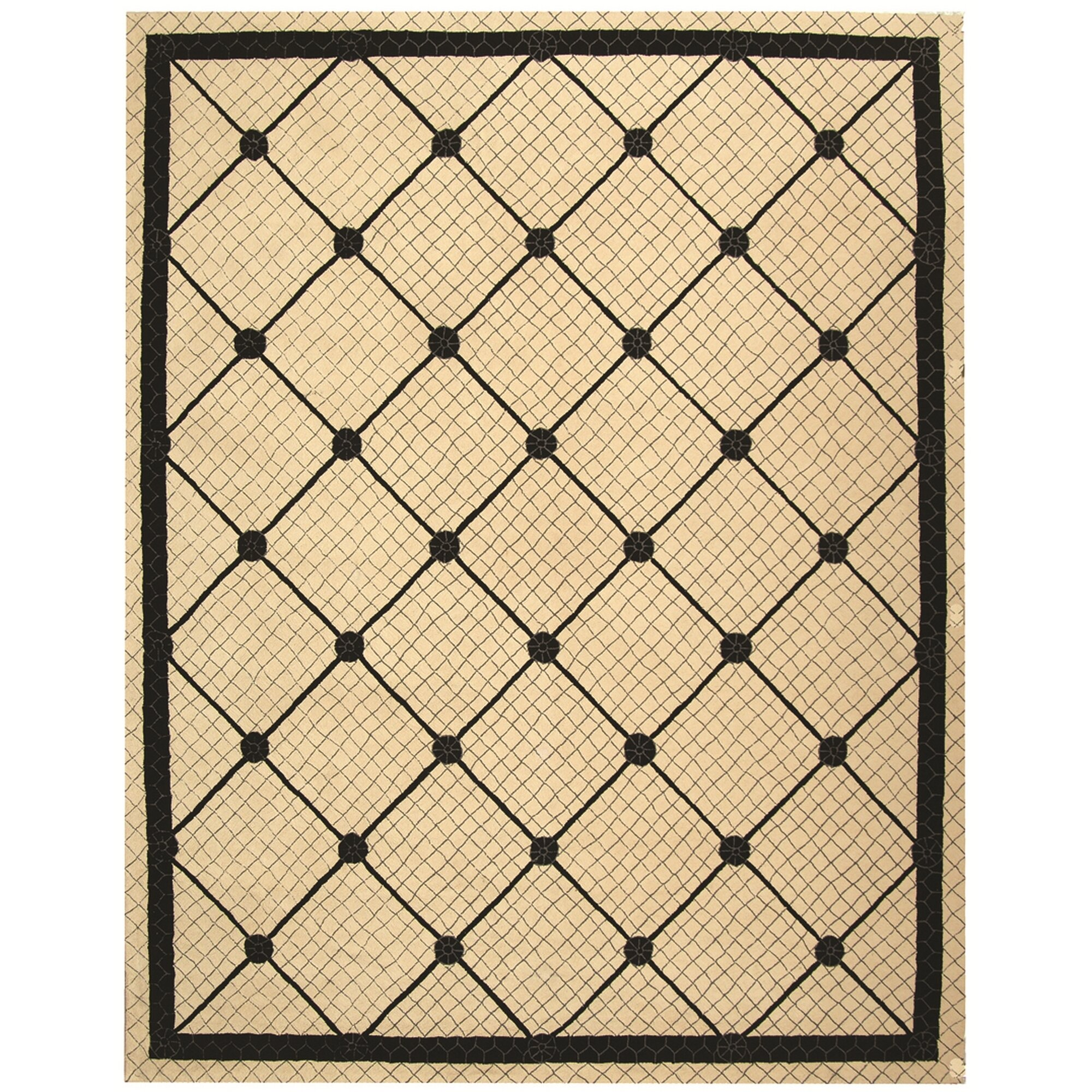 Black And White Geometric Rugs For Sale: Safavieh Newport Ivory/Black Geometric Area Rug