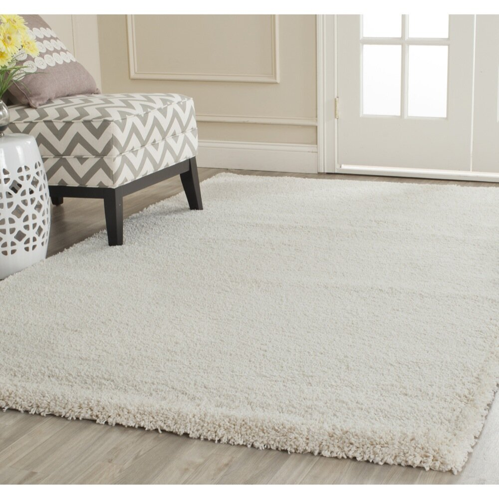 Dog Eating Wool Rug: Safavieh Milan Shag Ivory Area Rug & Reviews