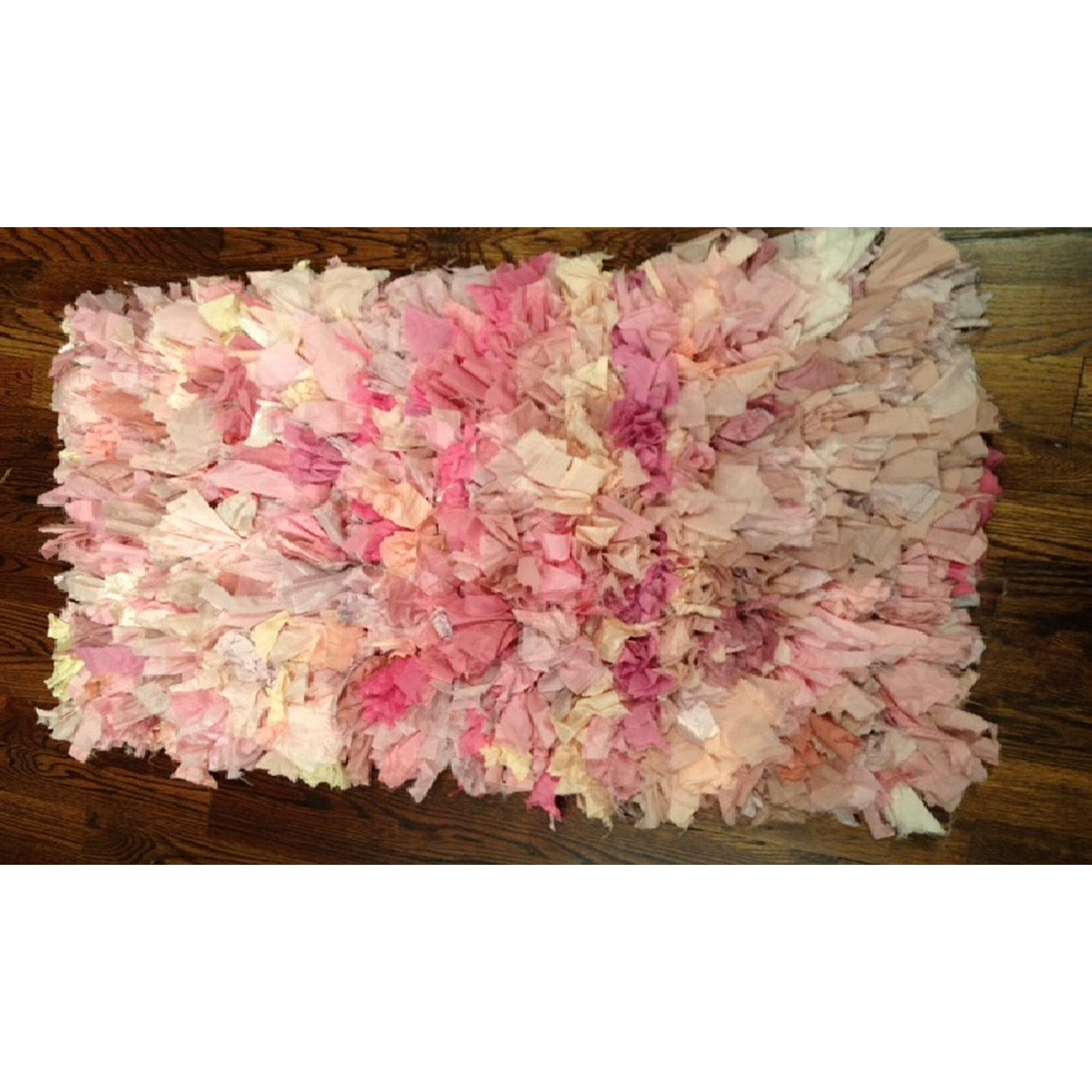 Safavieh Ivory/Pink Shag Area Rug & Reviews
