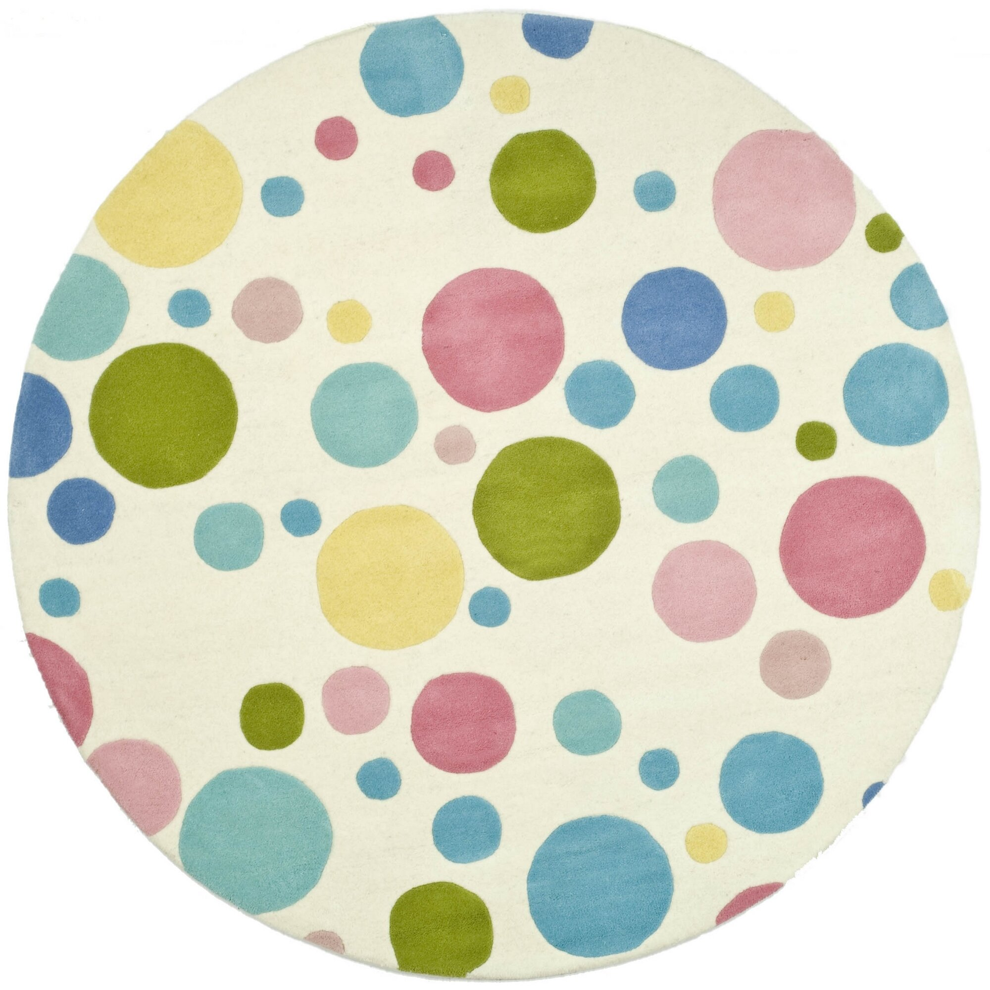 Safavieh soho circle pastel area rug reviews wayfair for Round rugs for kids