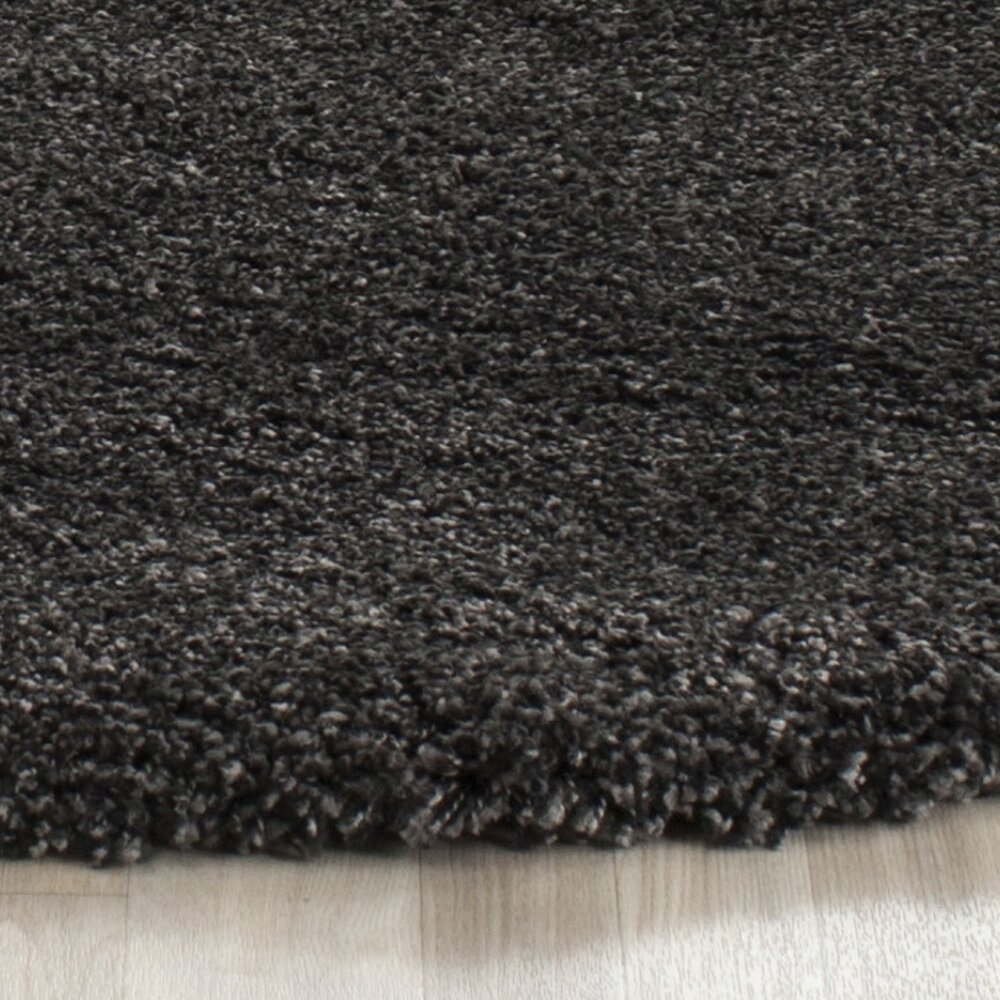 safavieh milan shag dark grey rug reviews wayfair. Black Bedroom Furniture Sets. Home Design Ideas