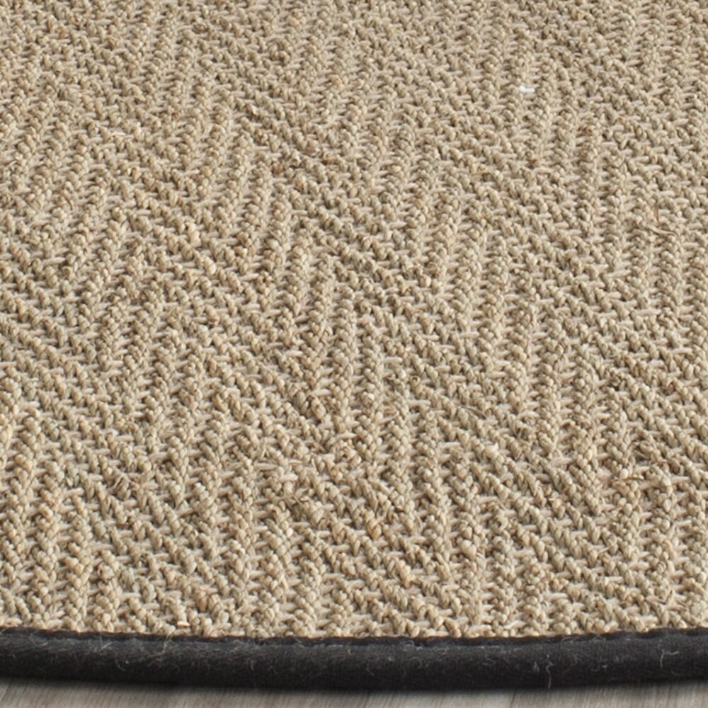 Safavieh Natural Fiber Natural/Black Area Rug & Reviews