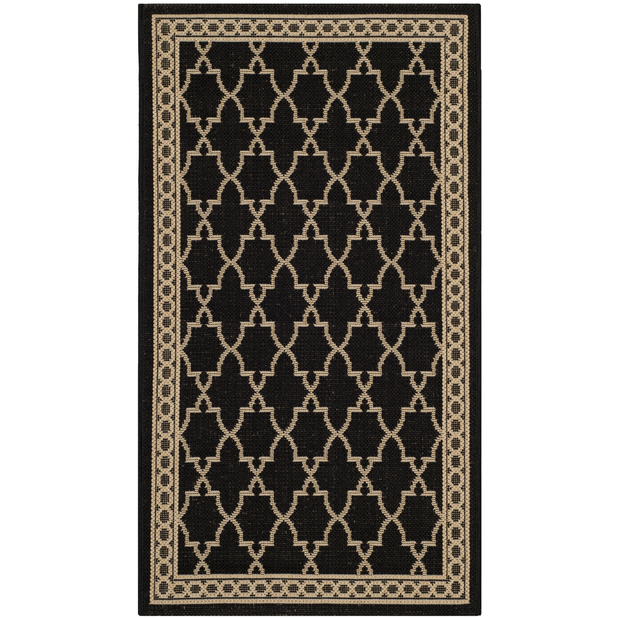safavieh courtyard black sand checked area rug reviews
