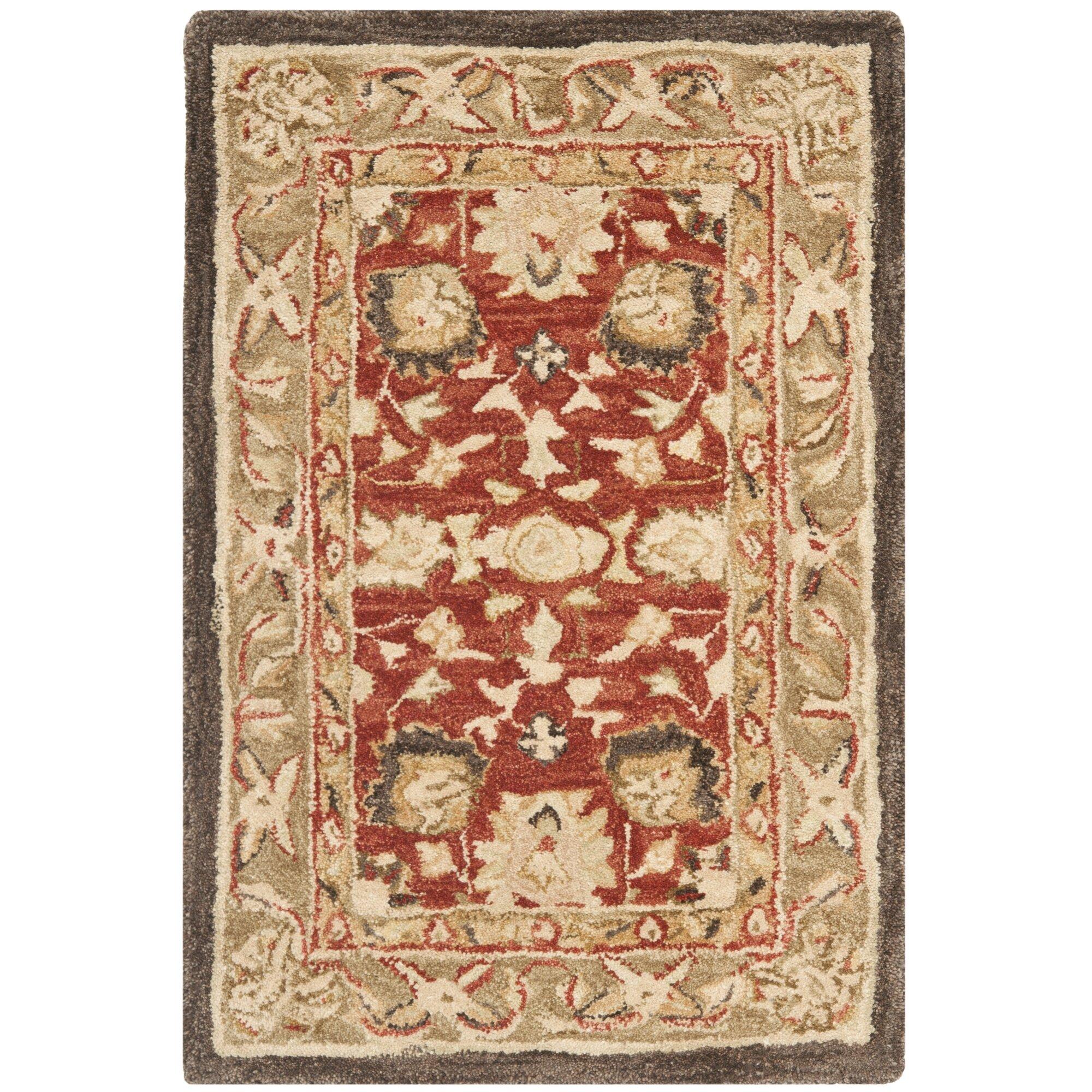 Safavieh anatolia rust green area rug reviews wayfair for Safavieh rugs