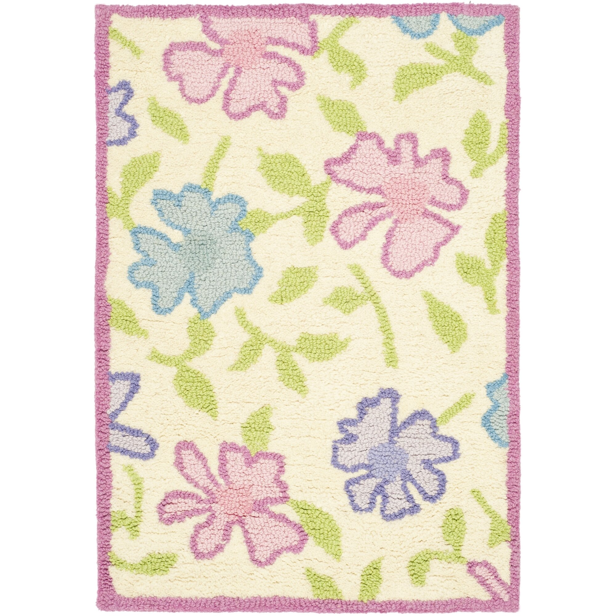 Safavieh Kids Pink Flower Area Rug Reviews Wayfair