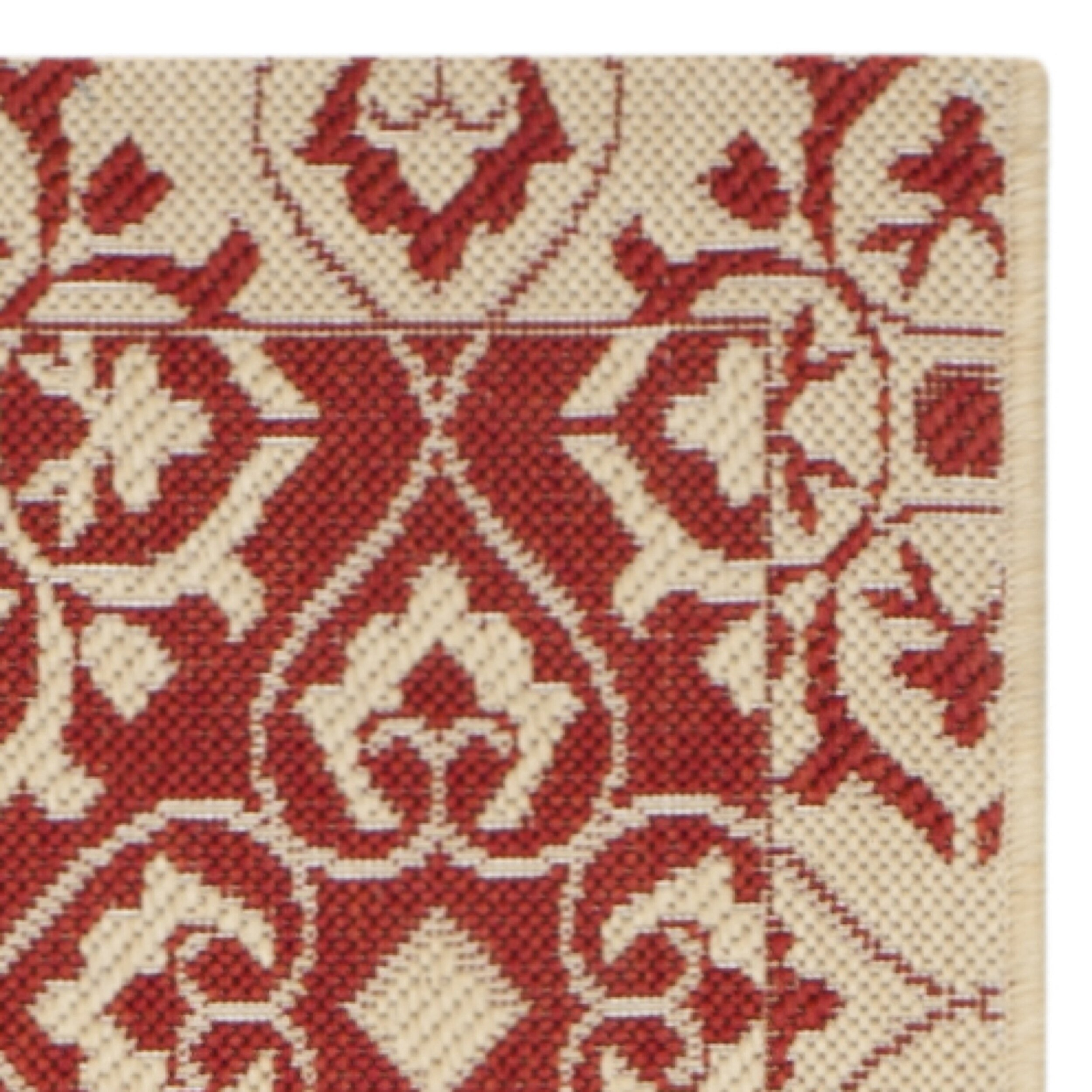Safavieh Courtyard Red Creme Outdoor Area Rug Amp Reviews