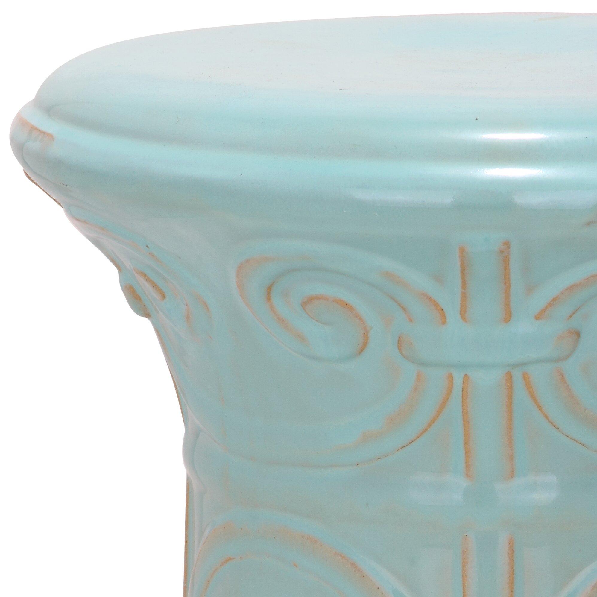 safavieh imperial scroll garden stool reviews wayfair