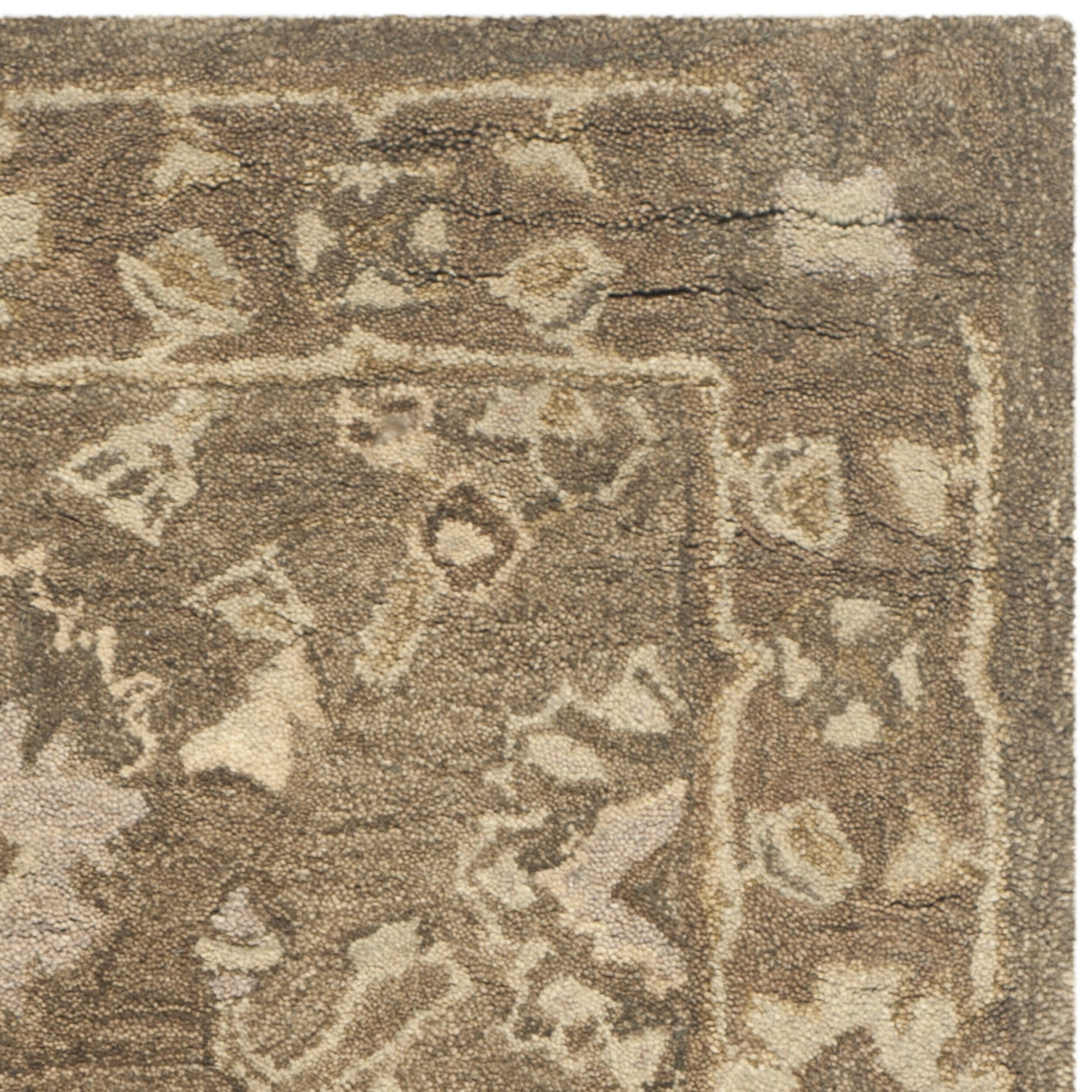 Safavieh anatolia brown grey area rug reviews for Grey and tan rug
