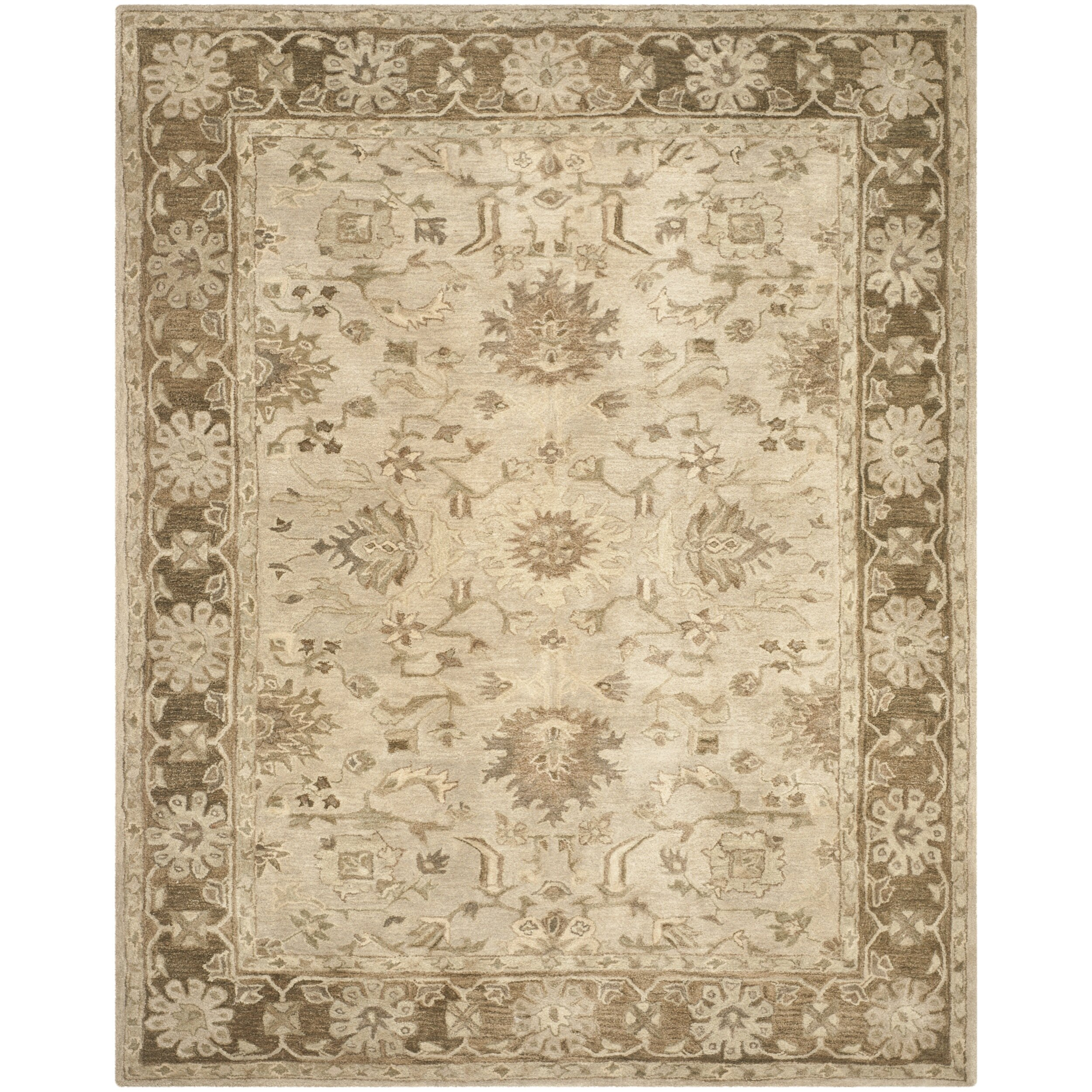Safavieh anatolia brown area rug wayfair for Safavieh rugs