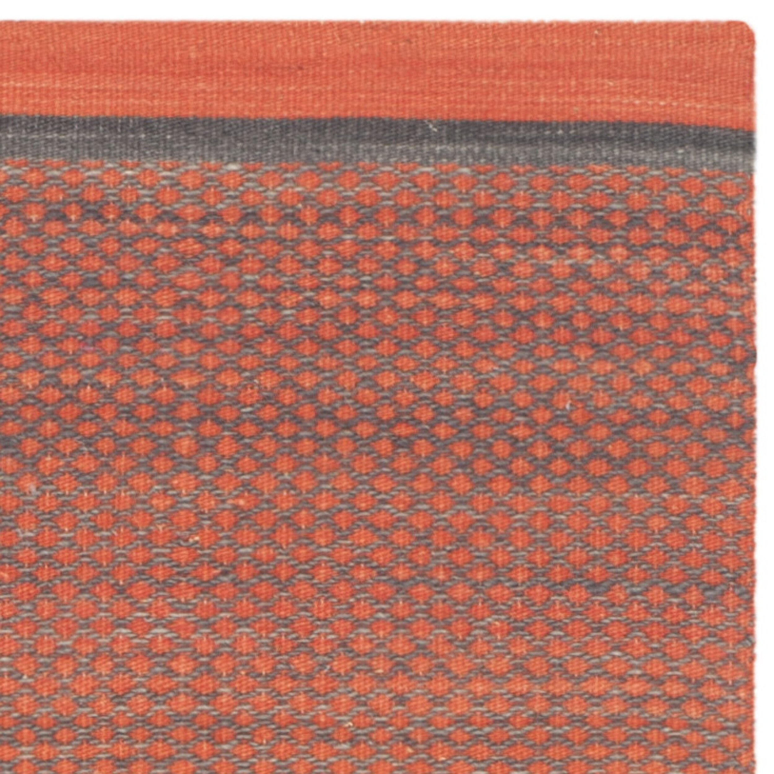 safavieh kilim dark grey orange striped rug reviews. Black Bedroom Furniture Sets. Home Design Ideas