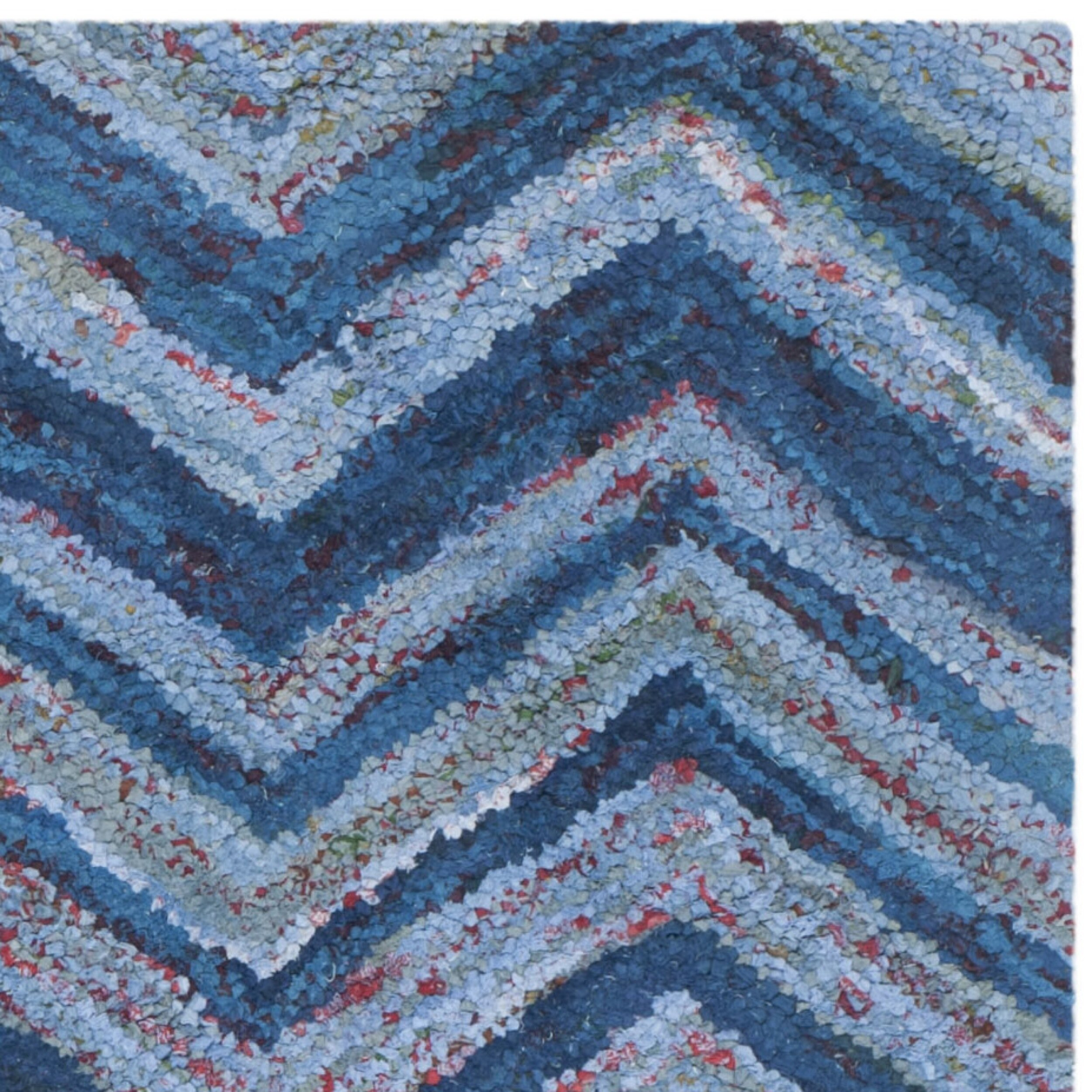 Safavieh Nantucket Blue Chevron Area Rug & Reviews