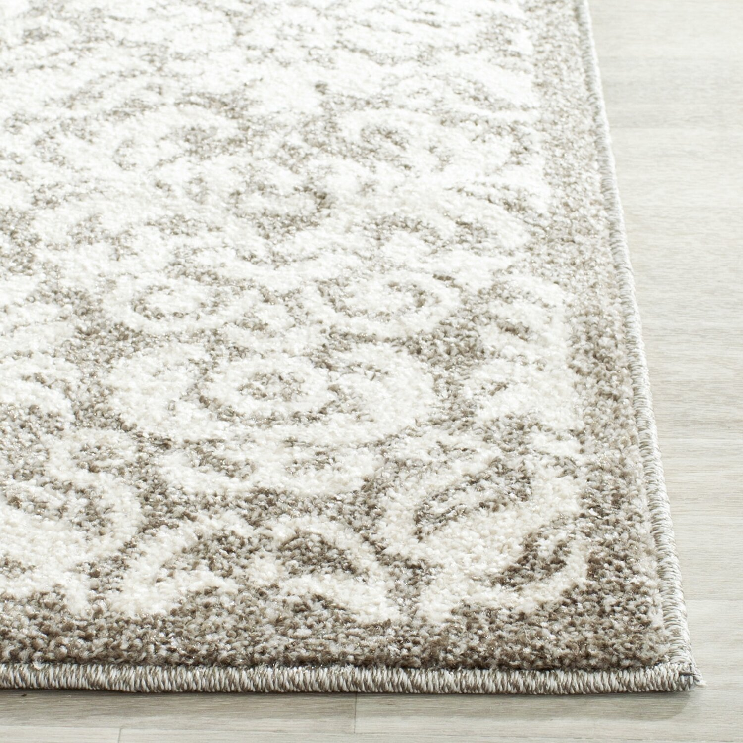 Safavieh amherst dark grey beige area rug reviews wayfair for Grey and tan rug