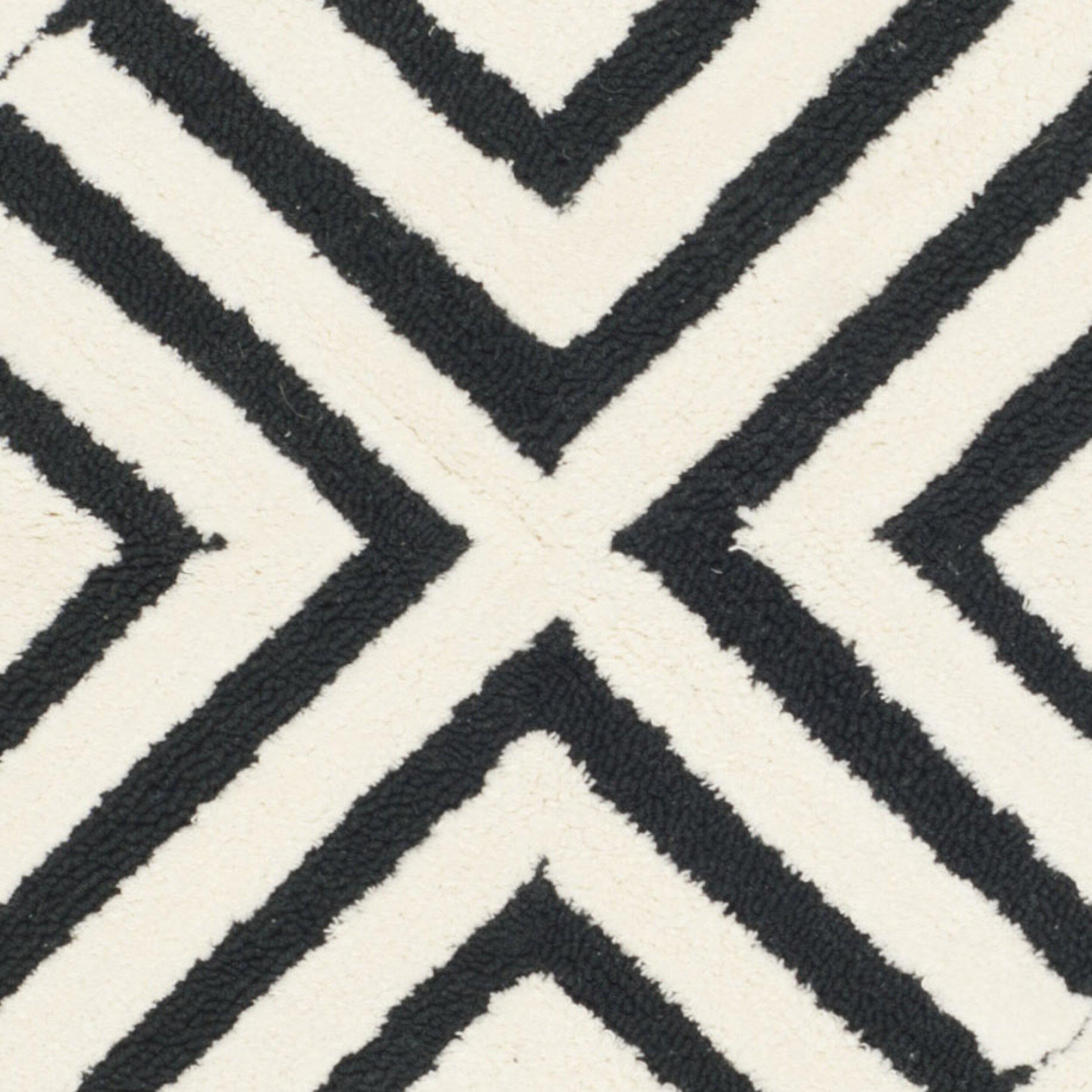 Safavieh Newport Black White Geometric Area Rug Amp Reviews