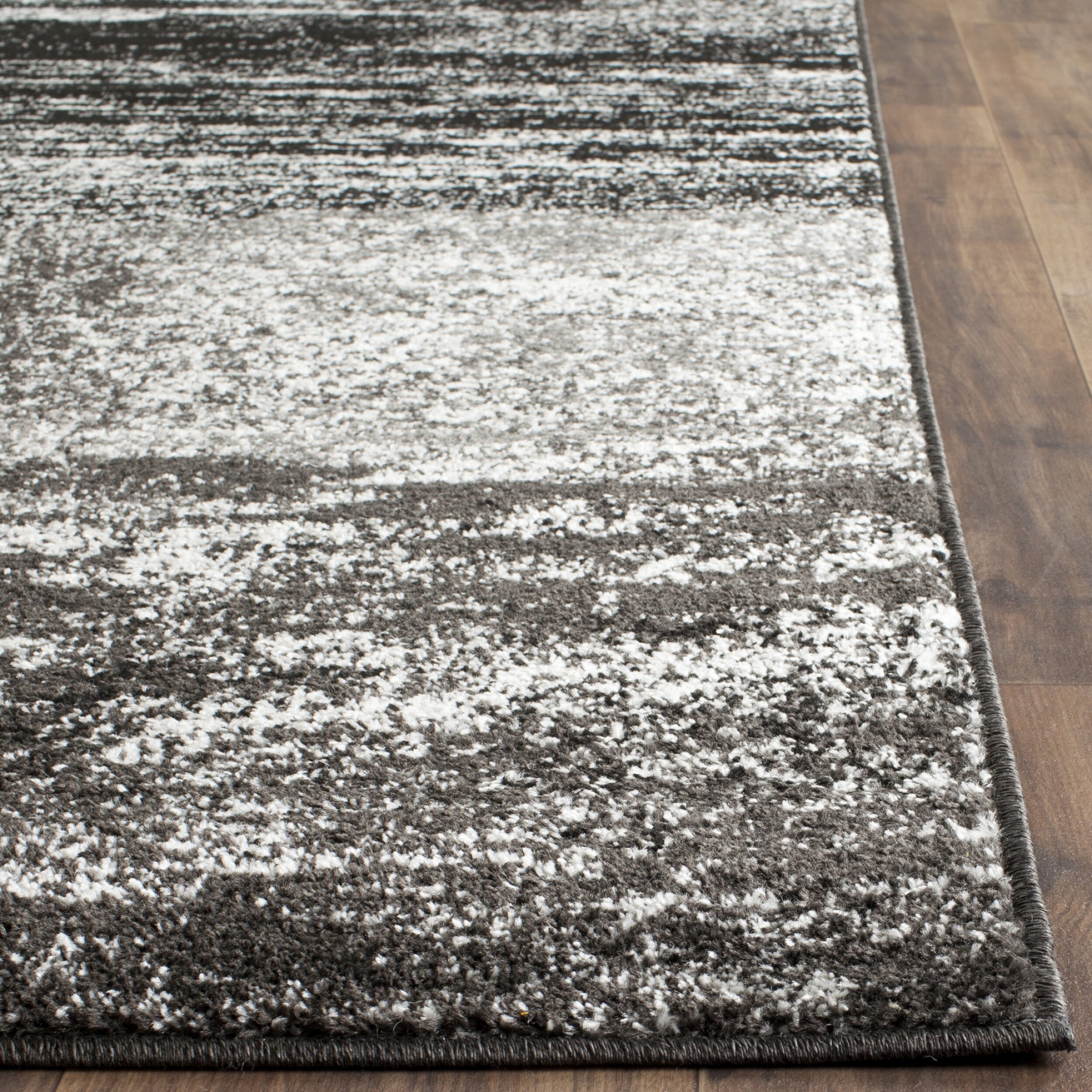 safavieh adirondack black silver white area rug reviews wayfair. Black Bedroom Furniture Sets. Home Design Ideas