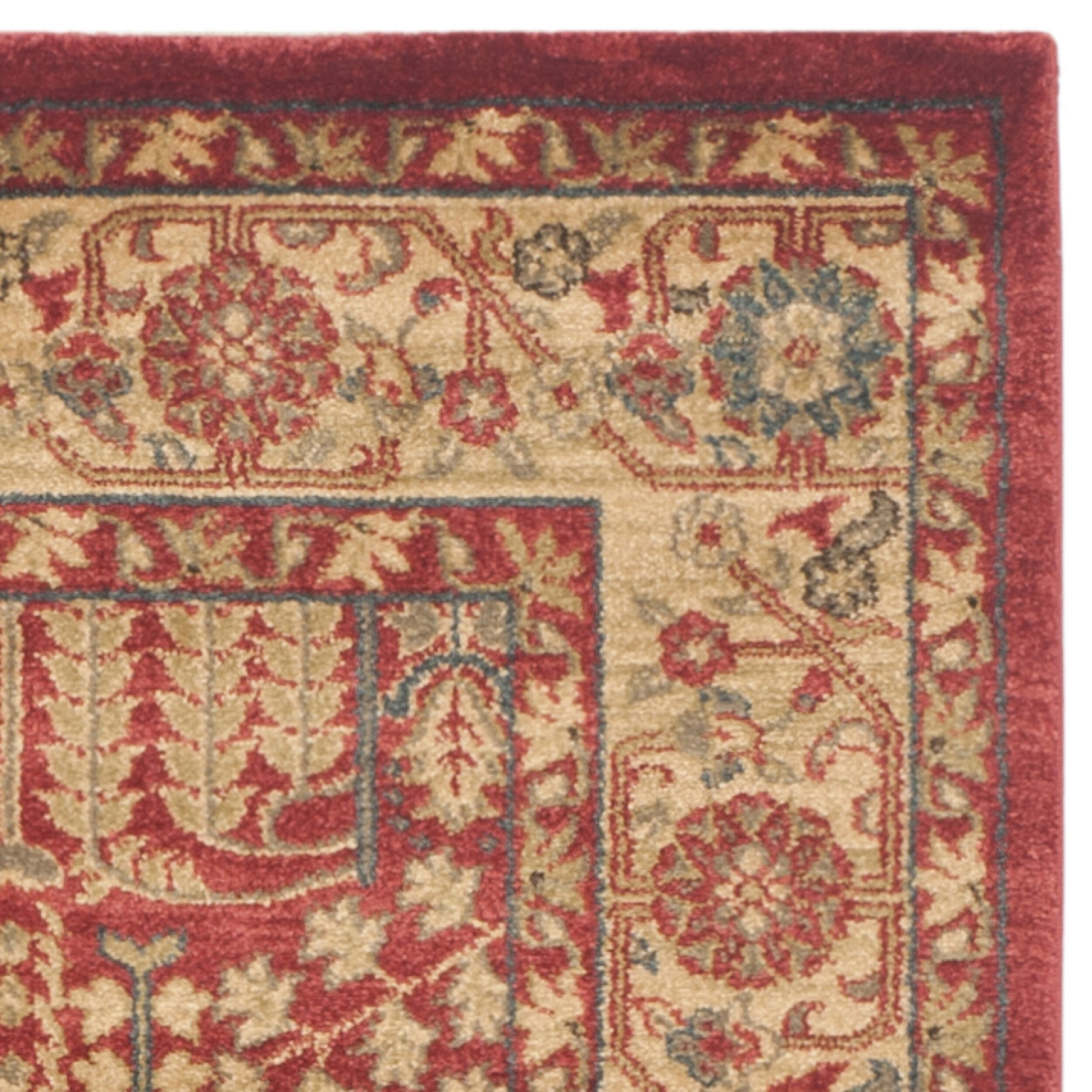 Safavieh Carpet: Safavieh Mahal Red/Natural Area Rug & Reviews